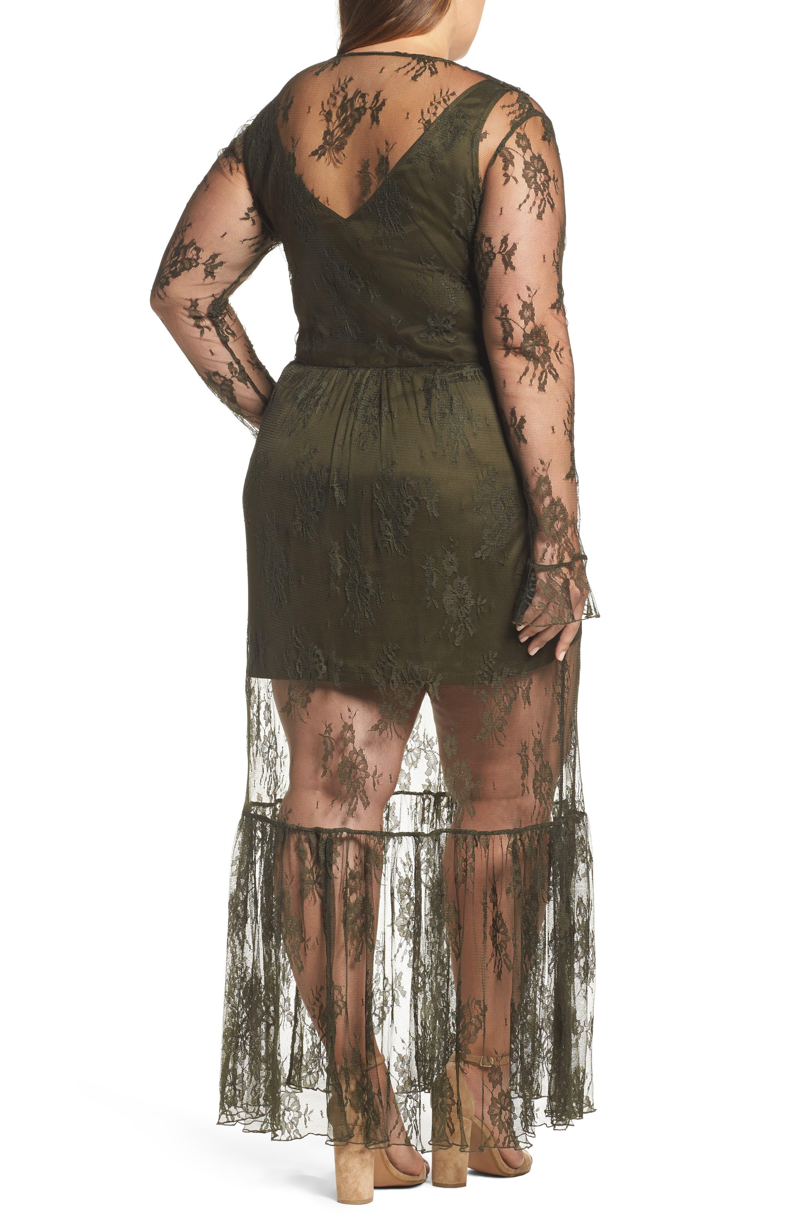 Lace Boho Maxi Dress,                             Alternate thumbnail 2, color,