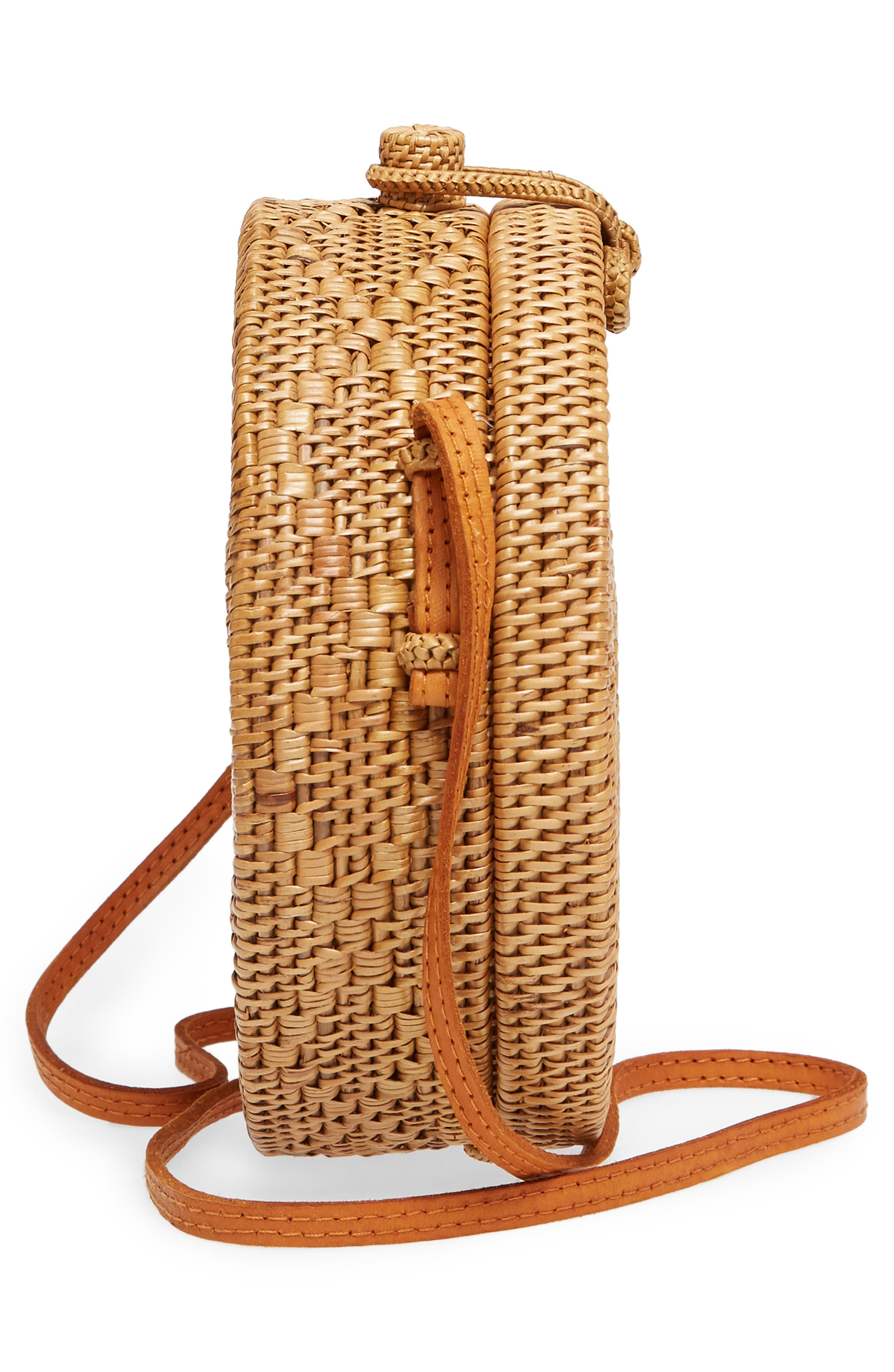 Round Rattan Crossbody Bag,                             Alternate thumbnail 5, color,                             230