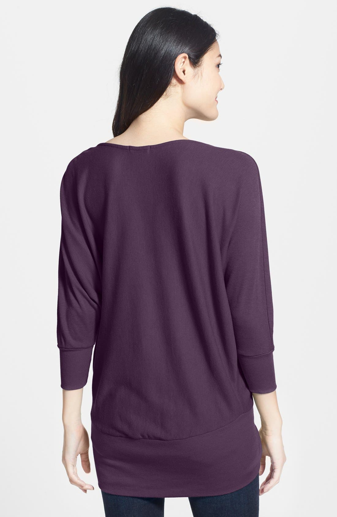 'Aidan' Drape Neck Thermal Top,                             Alternate thumbnail 17, color,