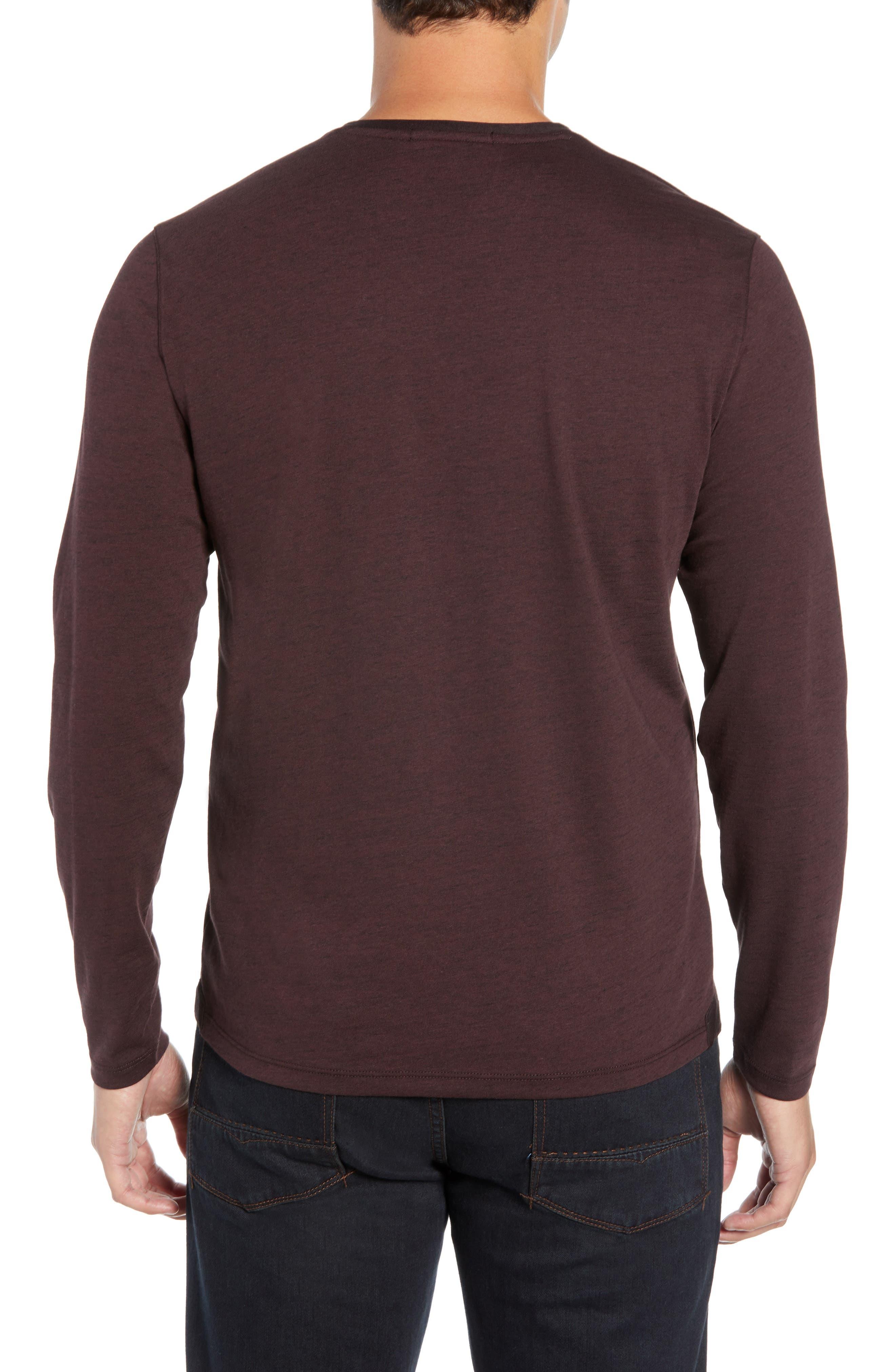 Flatrock Regular Fit V-Neck T-Shirt,                             Alternate thumbnail 2, color,                             PORT