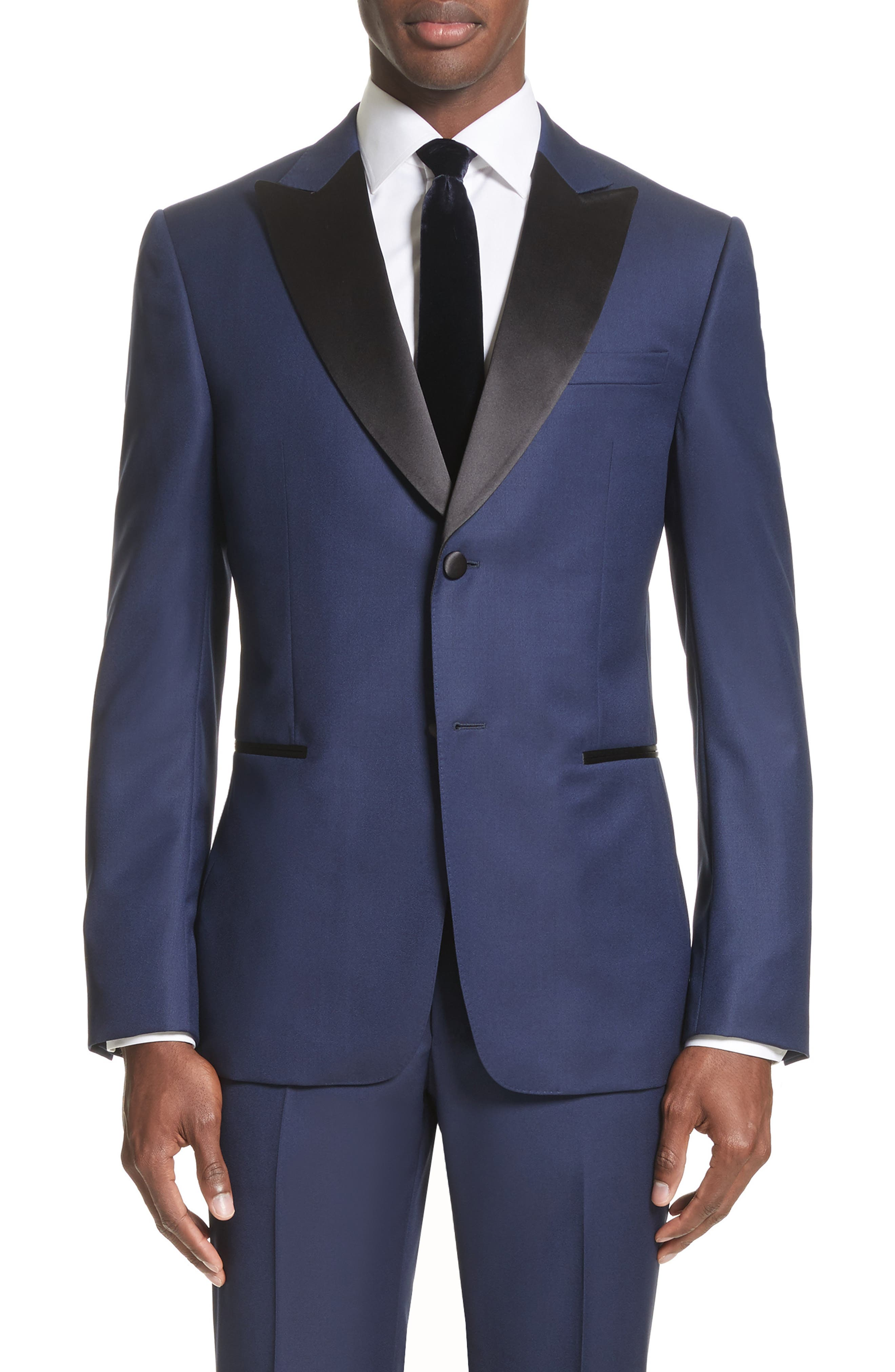 Slim Fit Wool Tuxedo,                             Alternate thumbnail 5, color,                             412