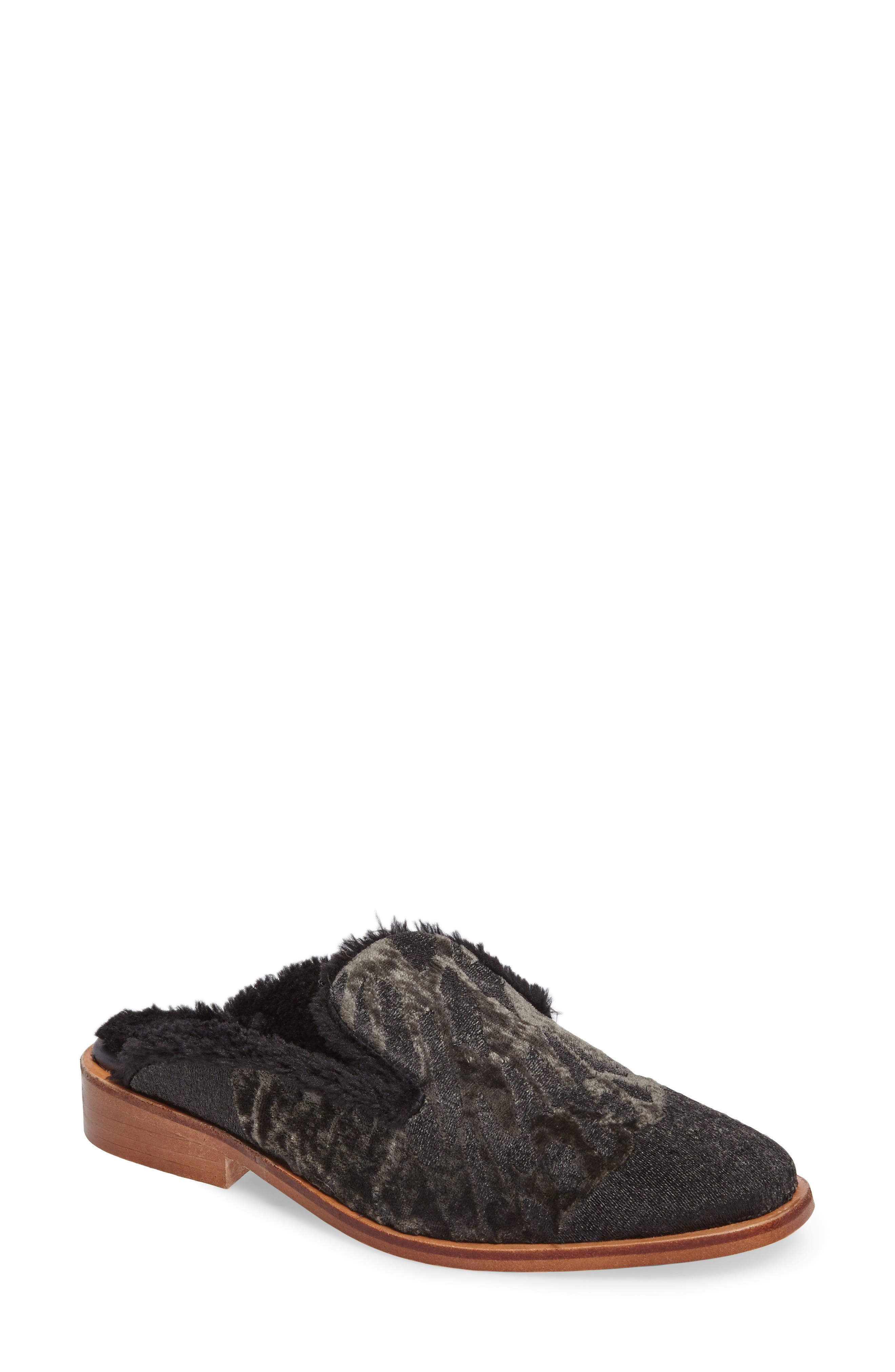 Butterfly Faux Fur Lined Mule,                         Main,                         color, 020