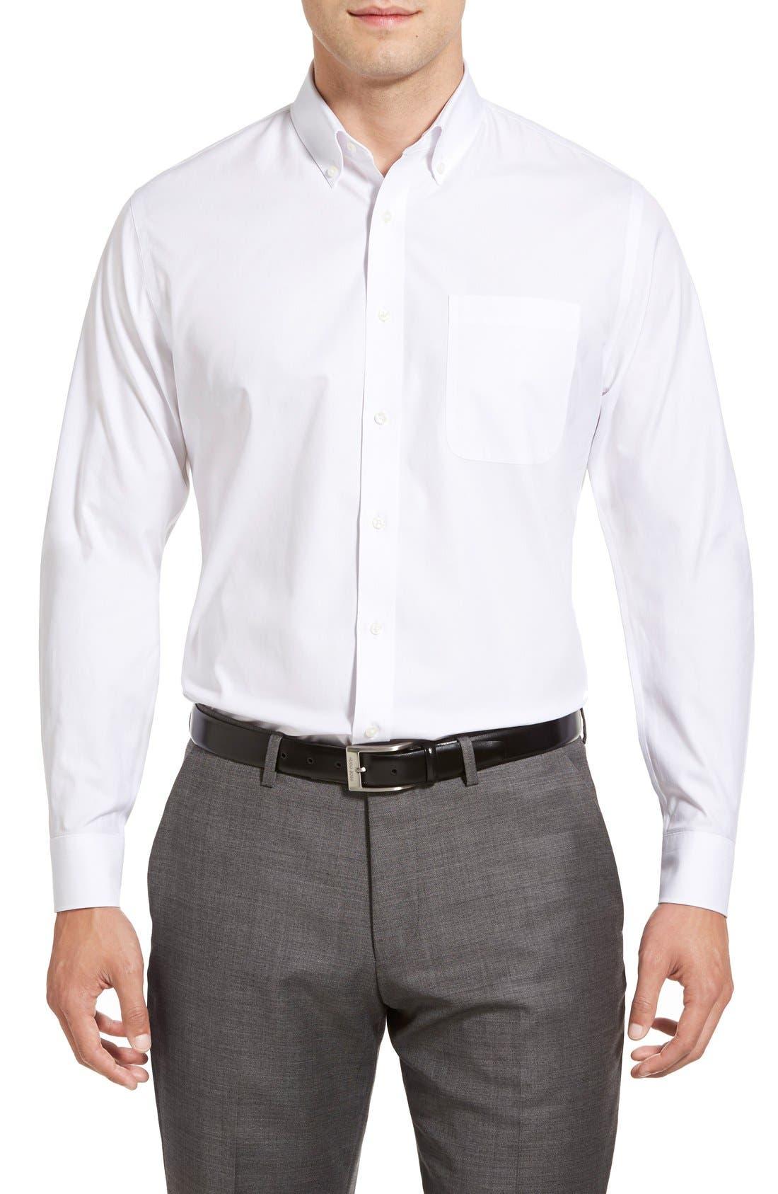 Smartcare<sup>™</sup> Trim Fit Solid Dress Shirt,                             Alternate thumbnail 2, color,                             100