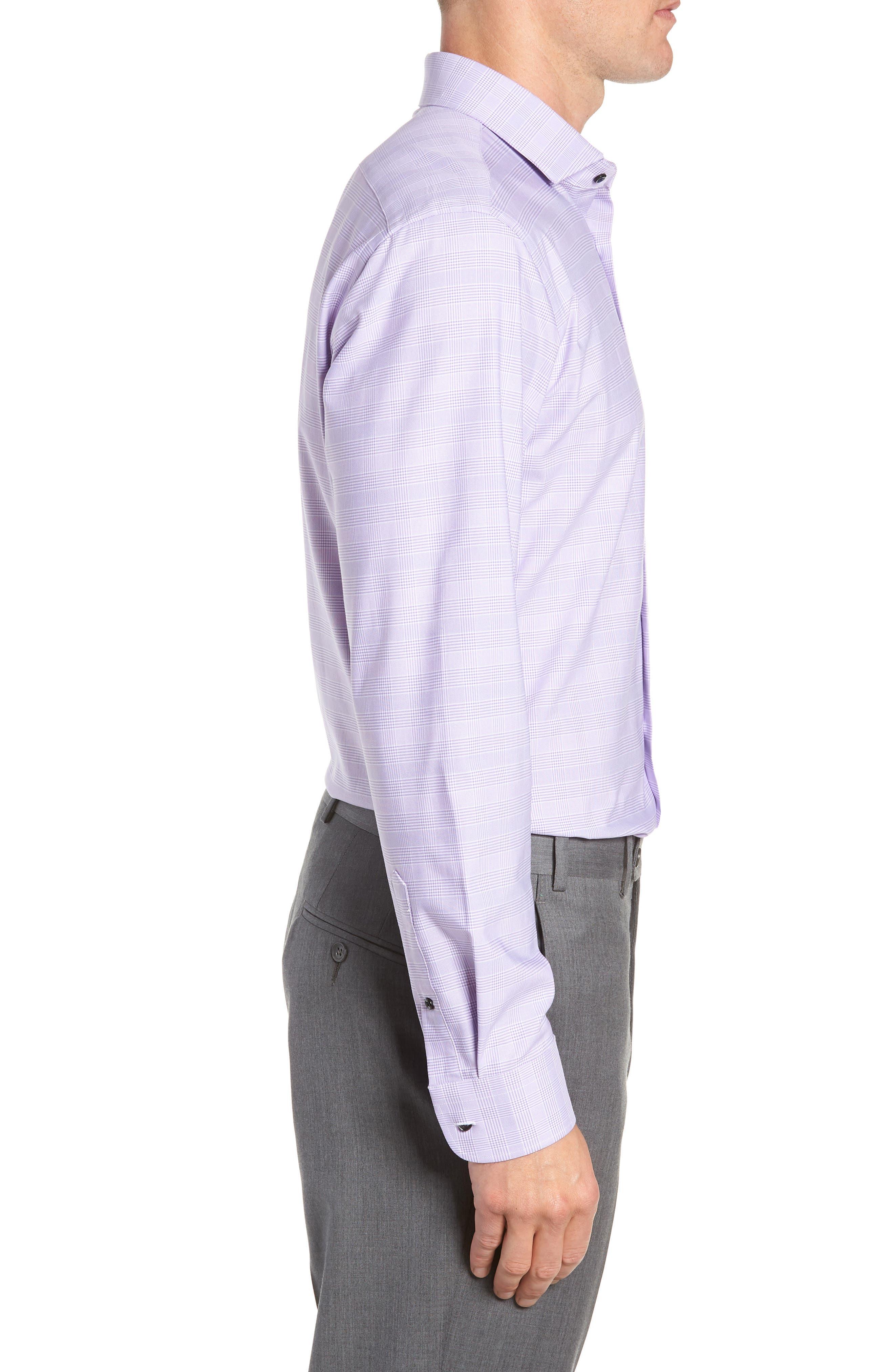 Tech-Smart Trim Fit Stretch Plaid Dress Shirt,                             Alternate thumbnail 13, color,
