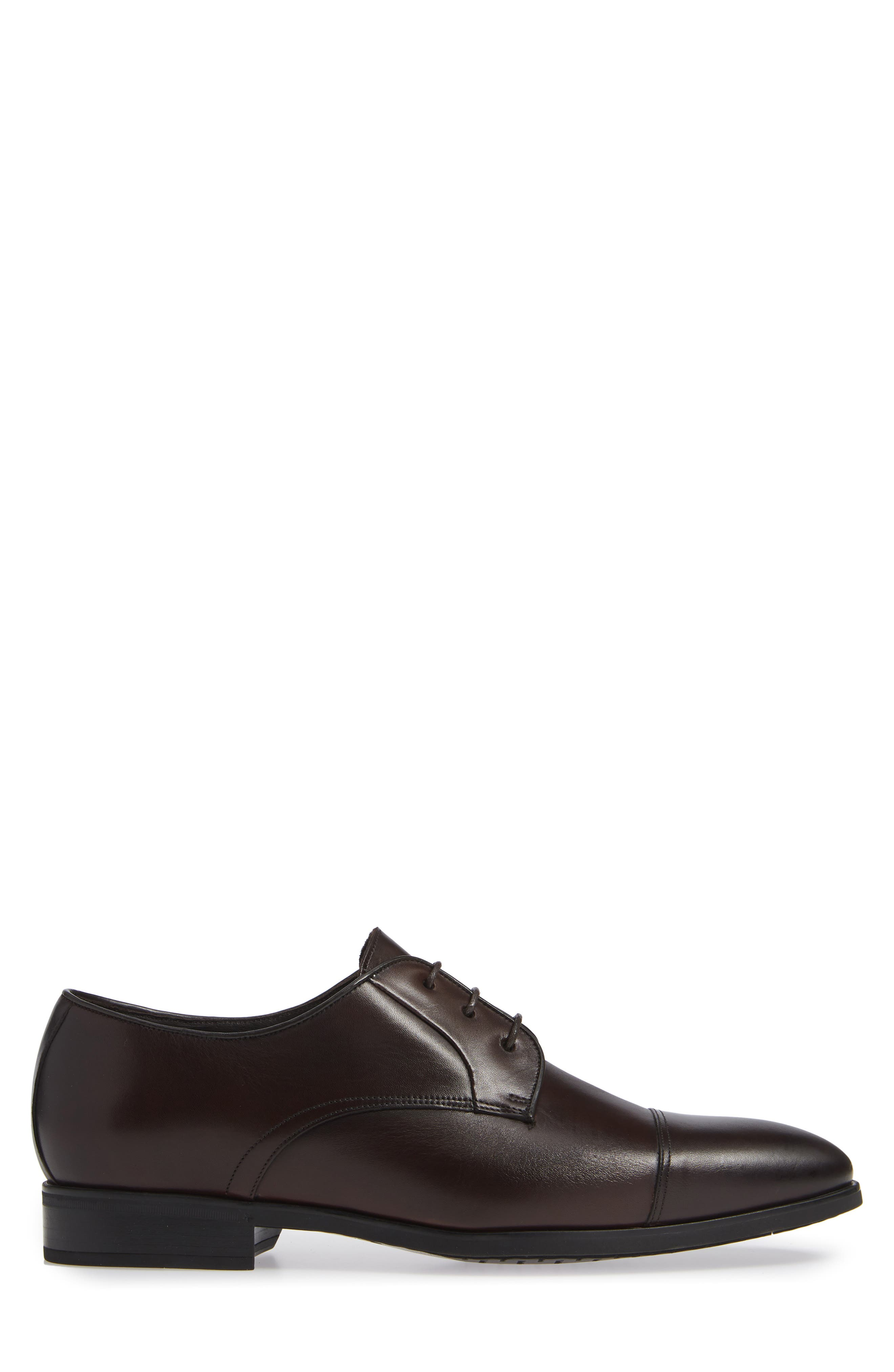 Aberdeen Cap Toe Derby,                             Alternate thumbnail 3, color,                             BERRY/ TMORO LEATHER