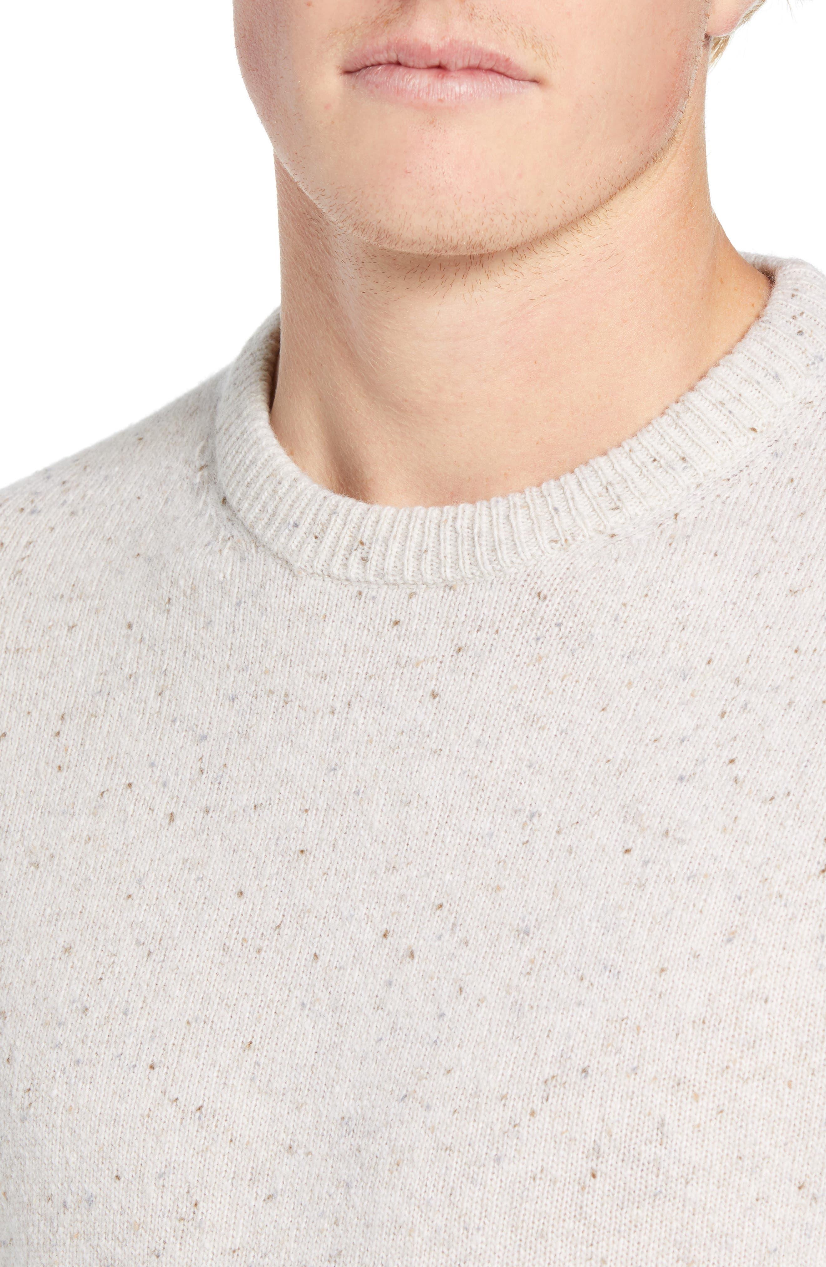 Donegal Sweater,                             Alternate thumbnail 4, color,                             CUBA WHITE