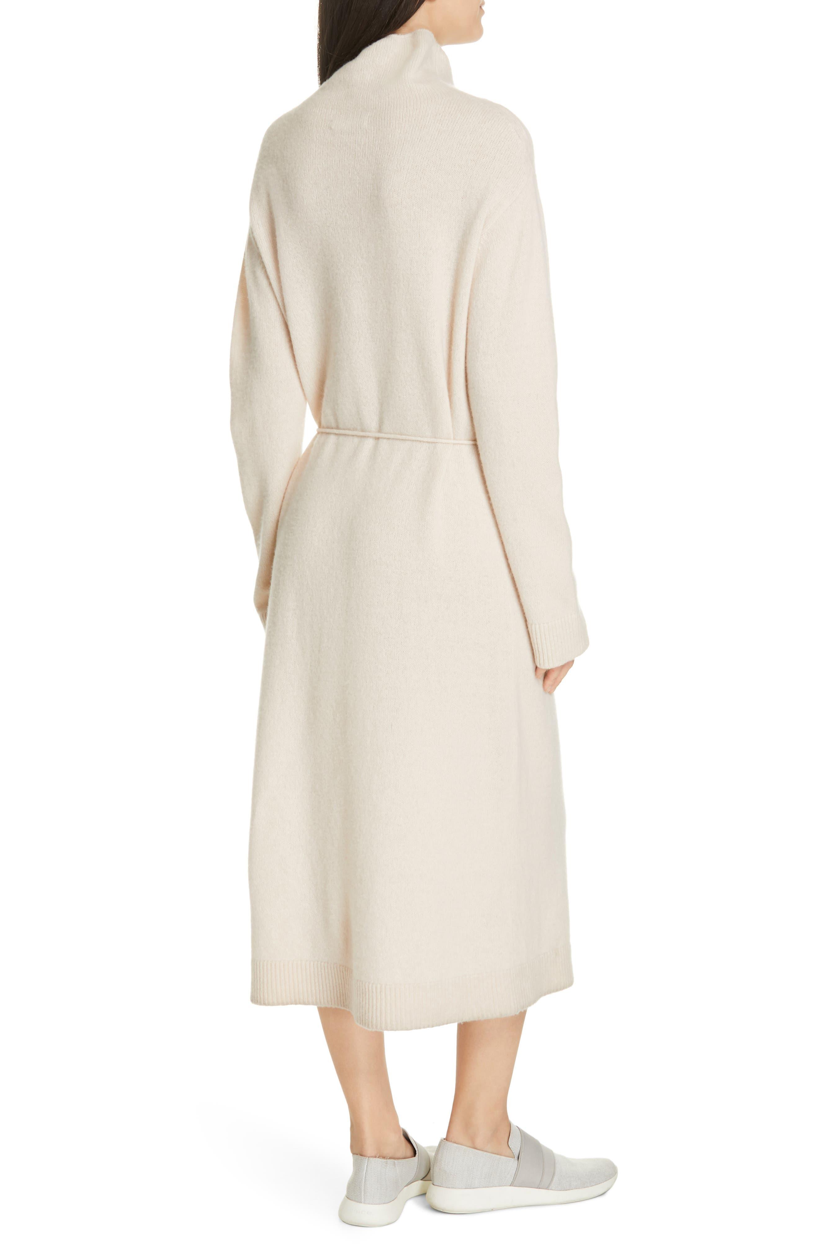 VINCE,                             Funnel Neck Wool & Cashmere Sweater Dress,                             Alternate thumbnail 2, color,                             BLUSH