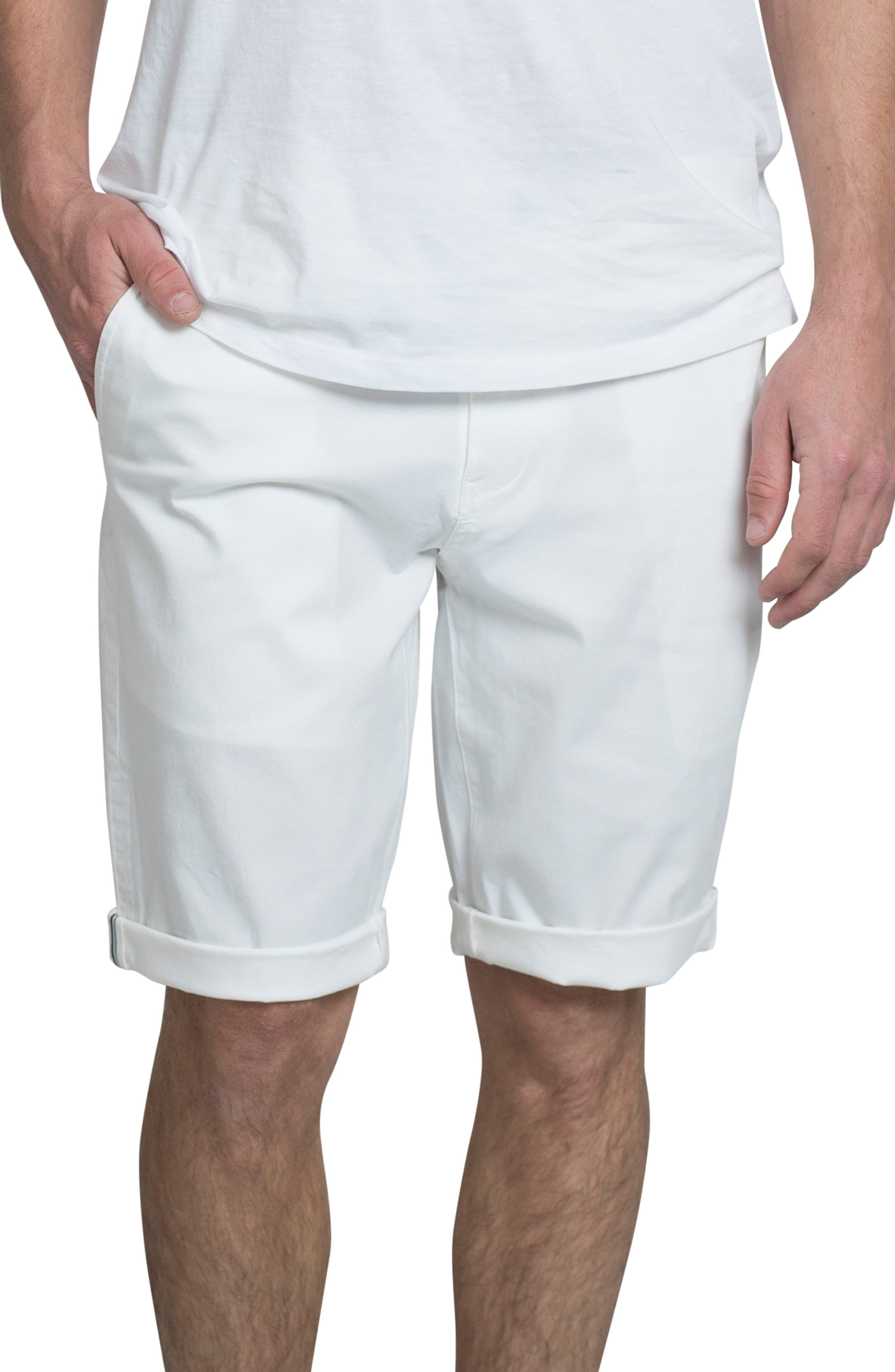 Slim Stretch Chino Shorts,                         Main,                         color, 111