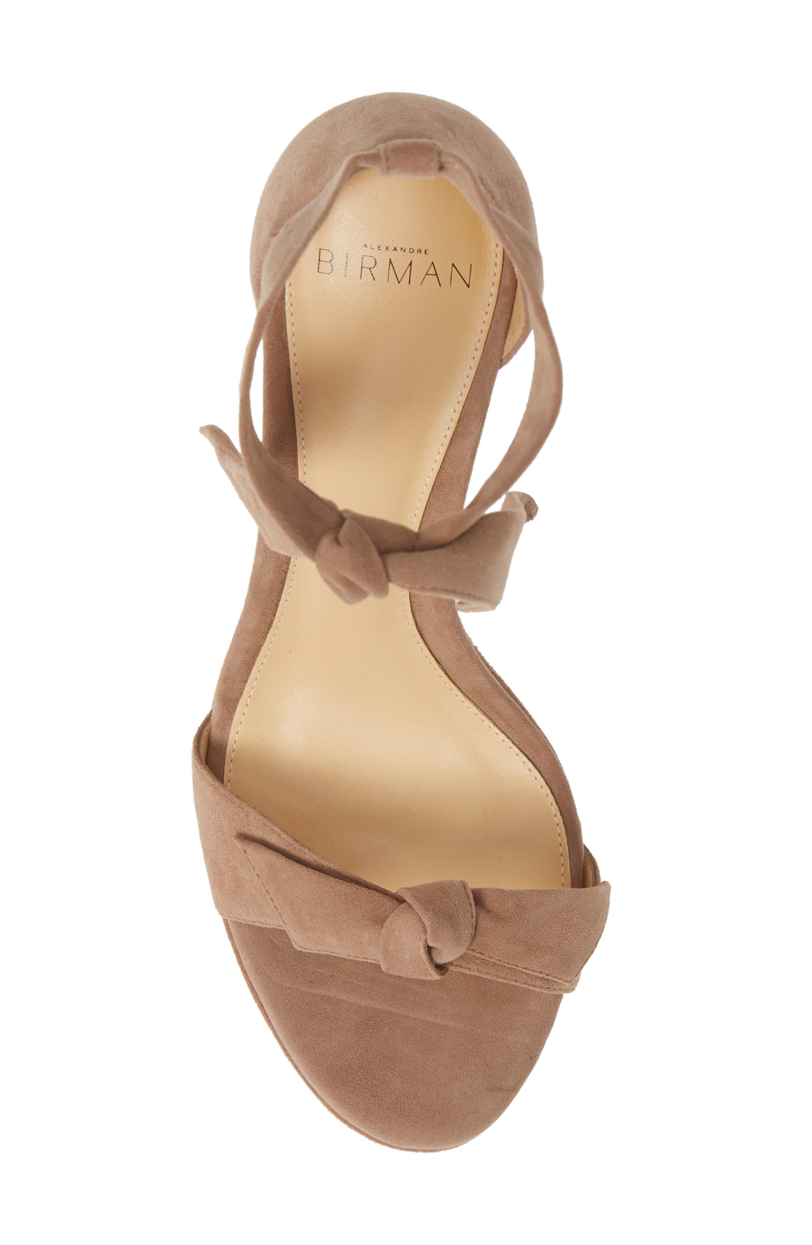 Clarita Platform Wedge Sandal,                             Alternate thumbnail 5, color,                             CAMEO SUEDE