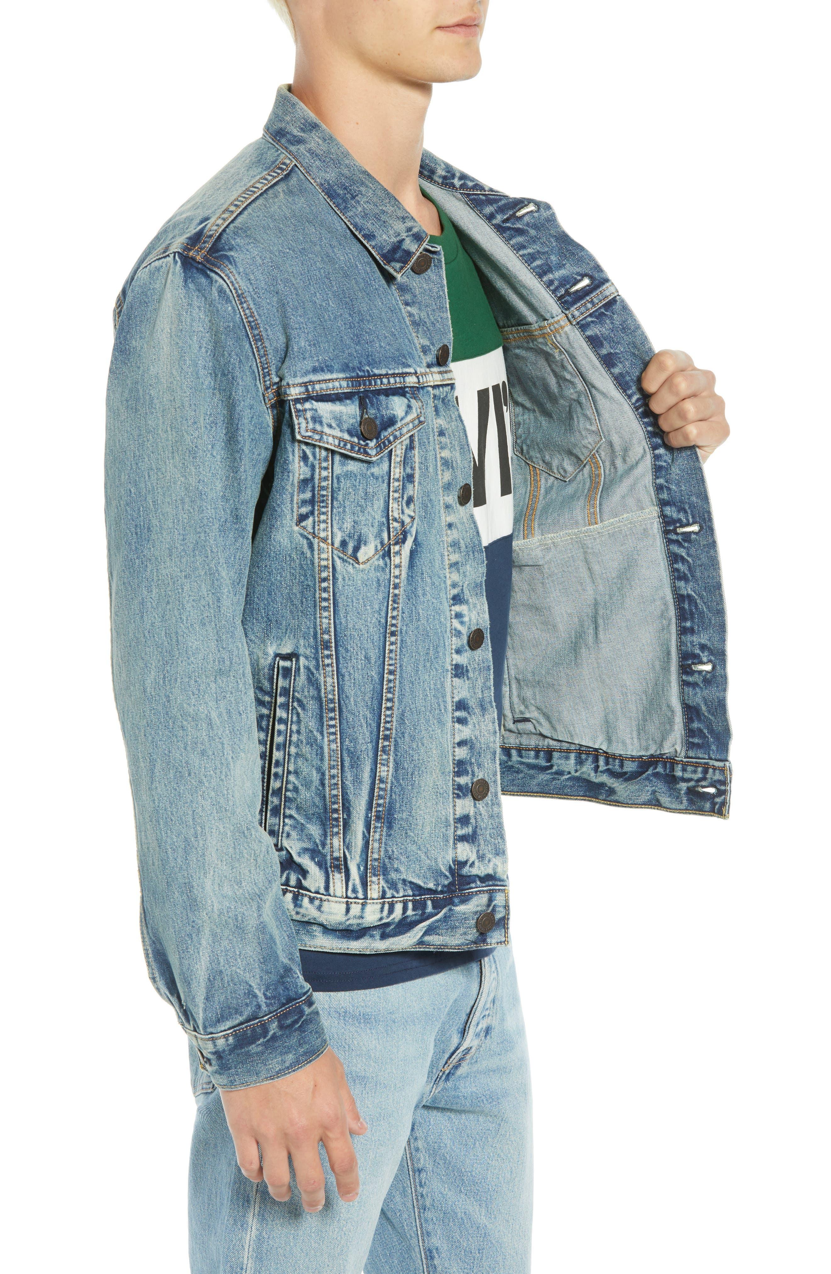 The Trucker Denim Jacket,                             Alternate thumbnail 3, color,                             420