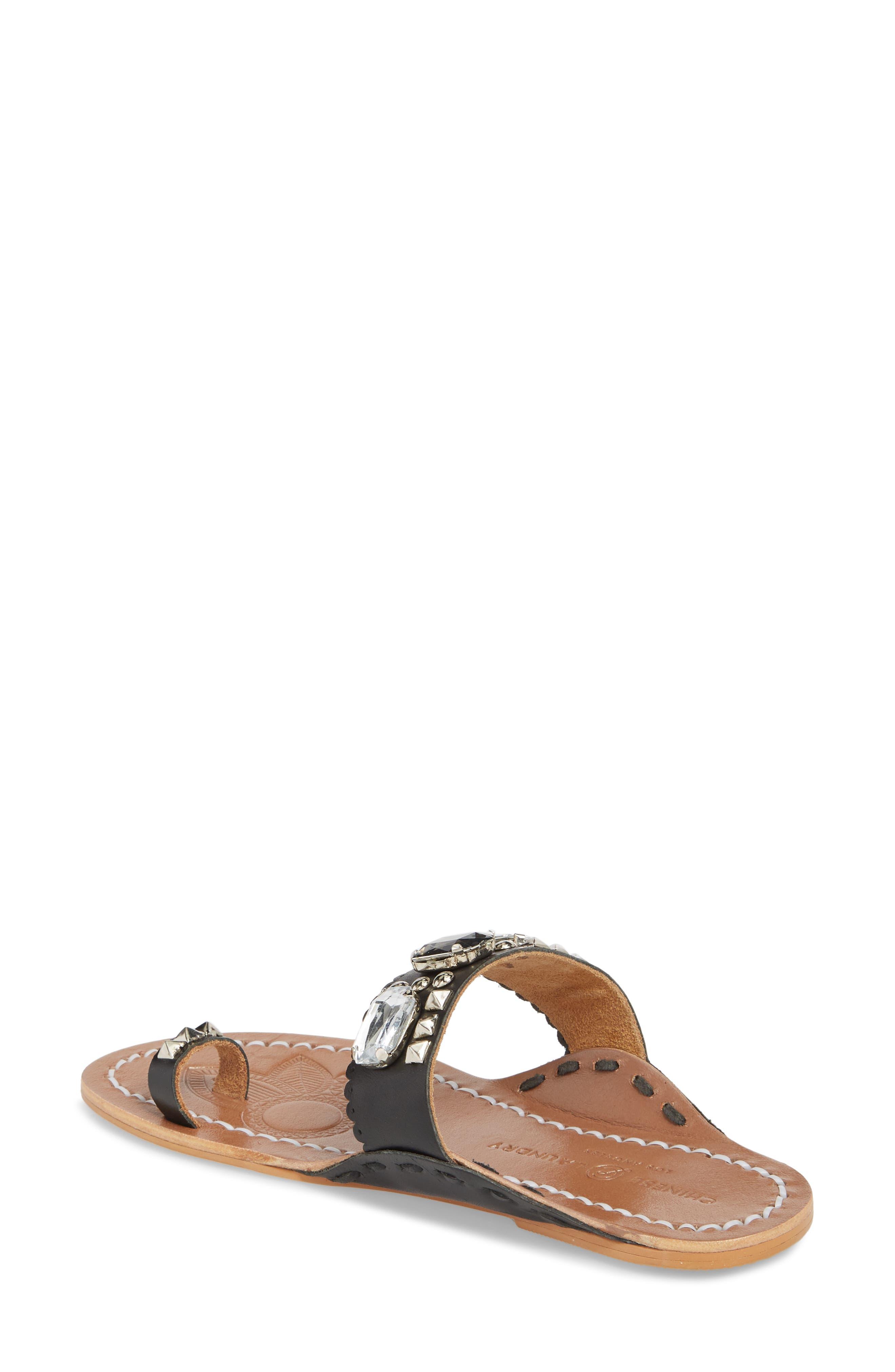 Jada Embellished Slide Sandal,                             Alternate thumbnail 2, color,                             001