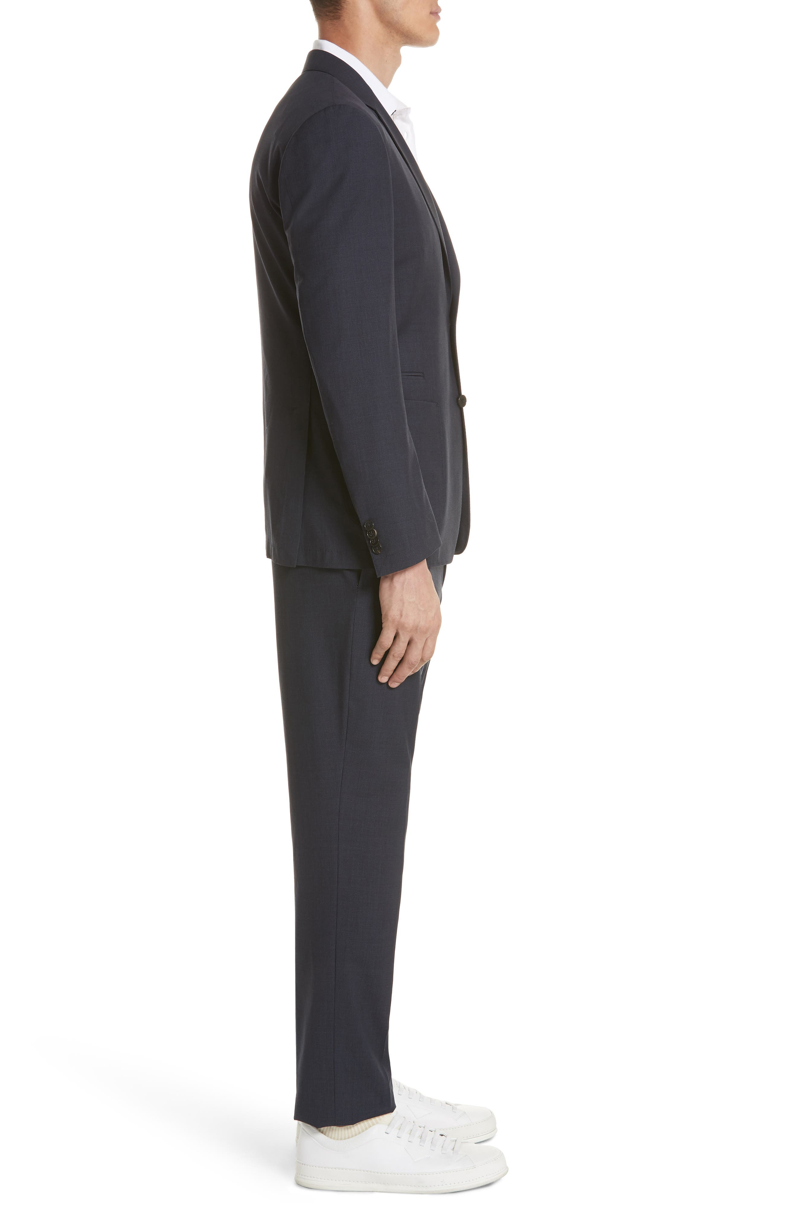 TECHMERINO<sup>™</sup> Wash & Go Trim Fit Solid Wool Suit,                             Alternate thumbnail 3, color,                             412