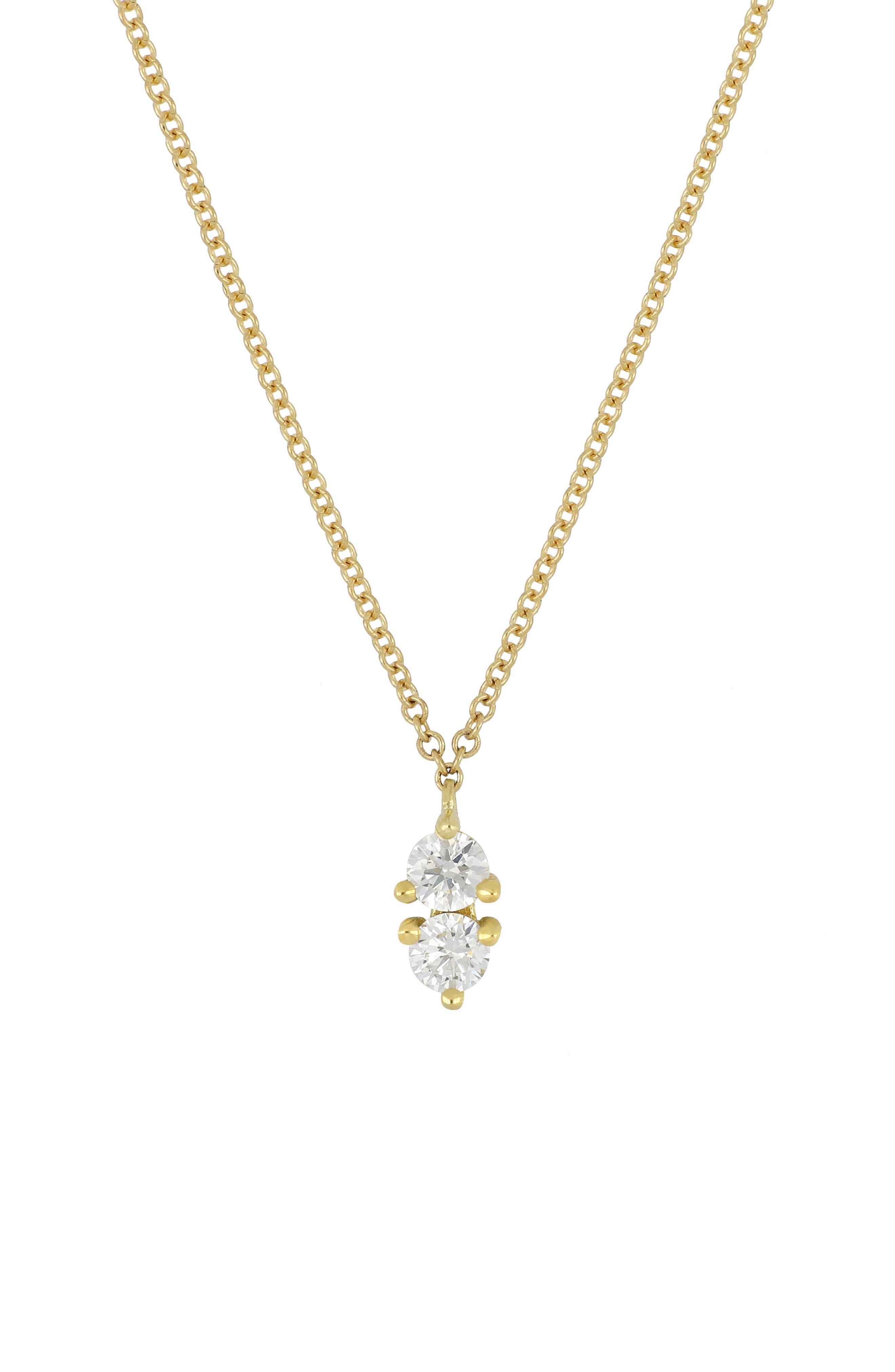 Birthstone Pendant Necklace,                             Main thumbnail 1, color,                             APRIL/ DIAMOND