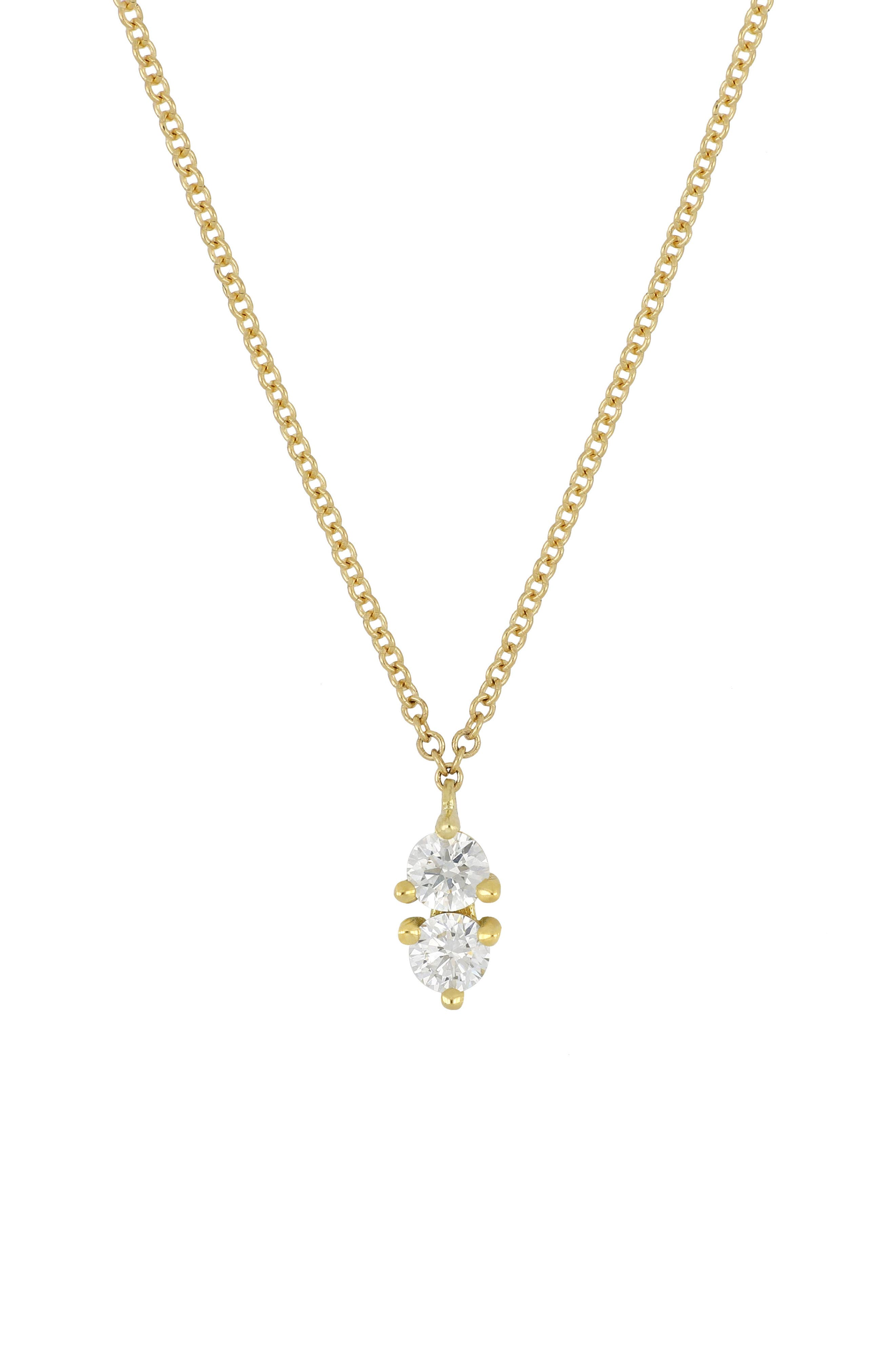 Birthstone Pendant Necklace,                         Main,                         color, APRIL/ DIAMOND