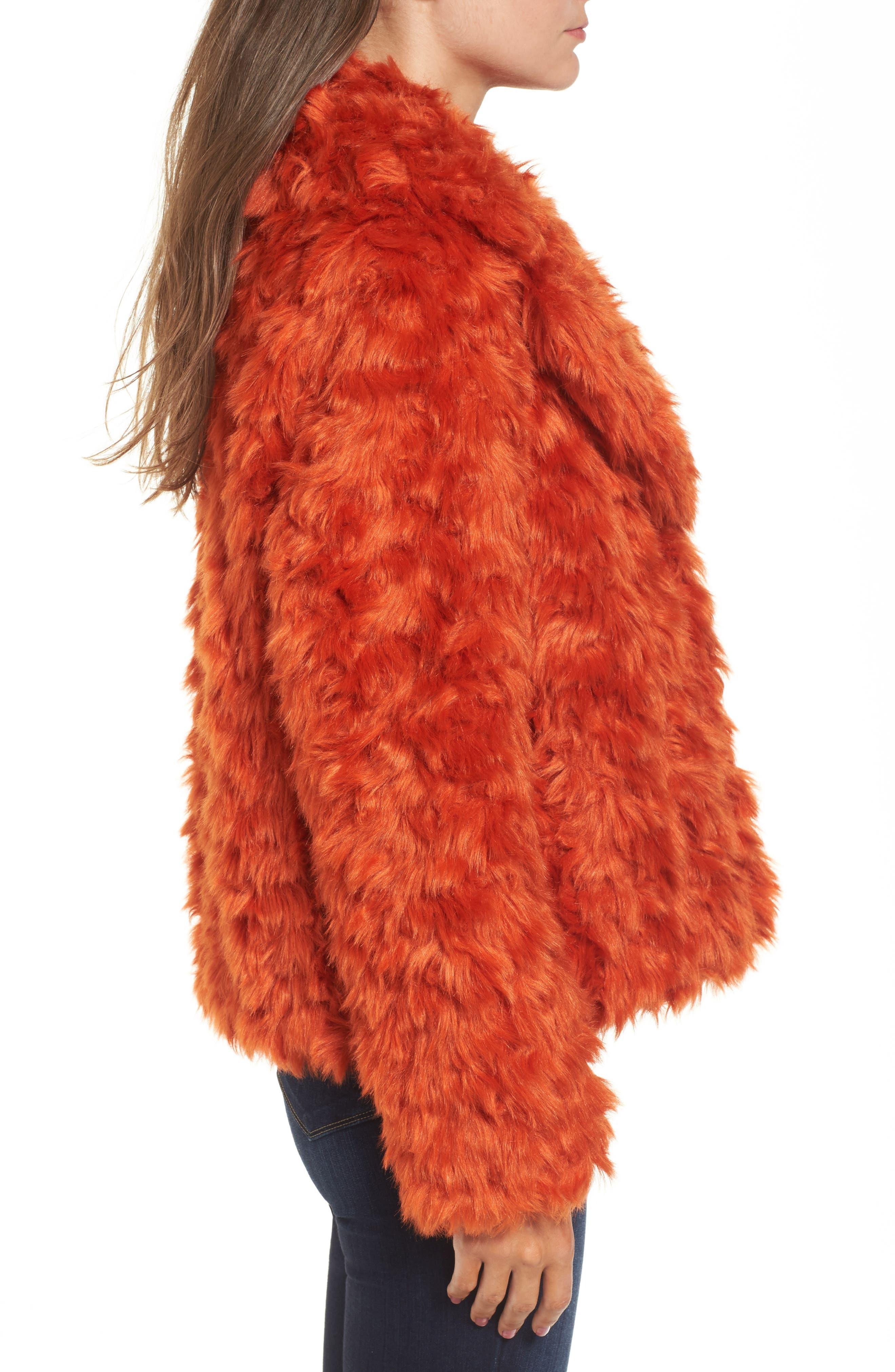 Curly Faux Fur Jacket,                             Alternate thumbnail 3, color,                             800
