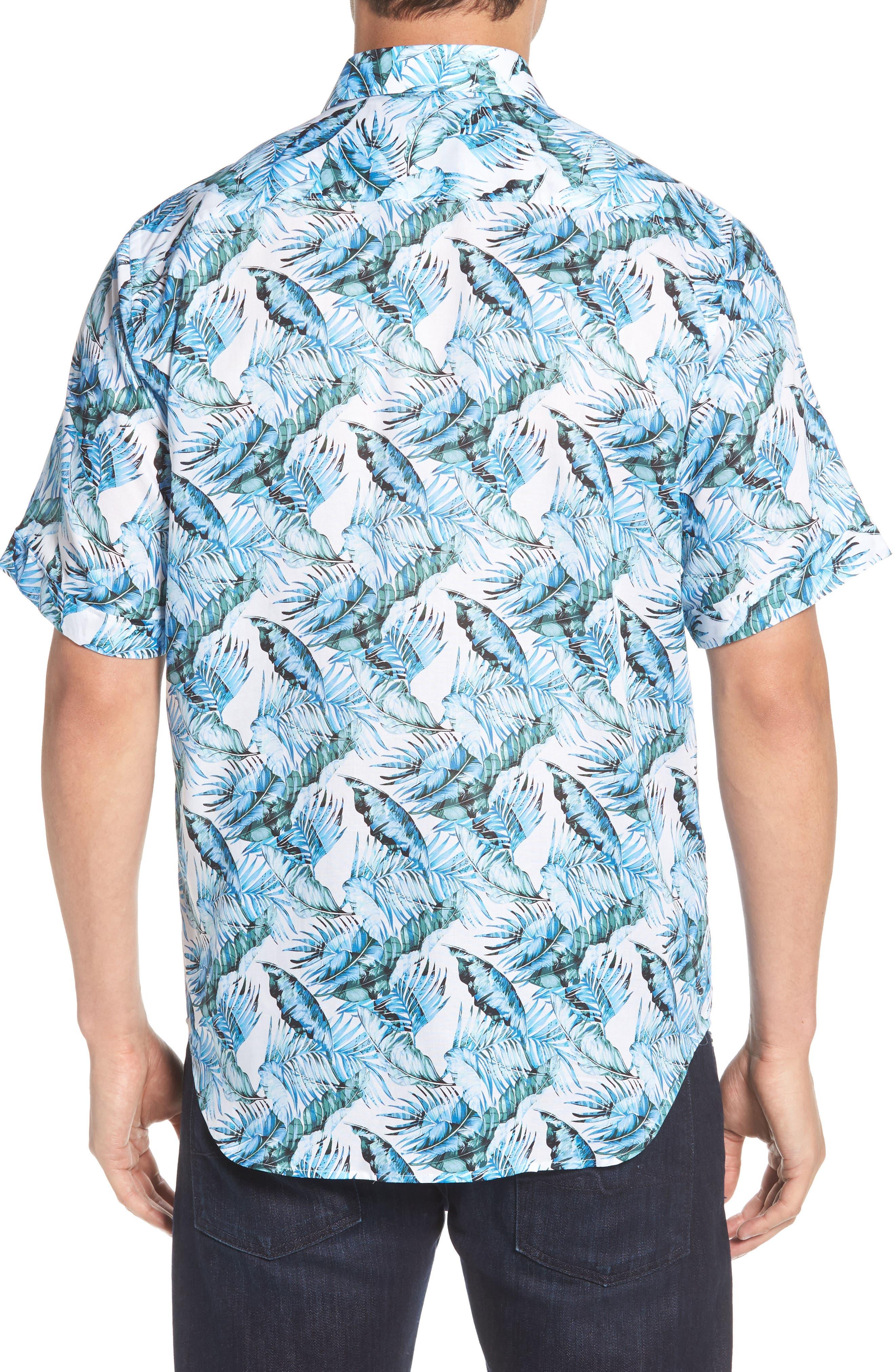 Classic Fit Palm Print Sport Shirt,                             Alternate thumbnail 2, color,                             440