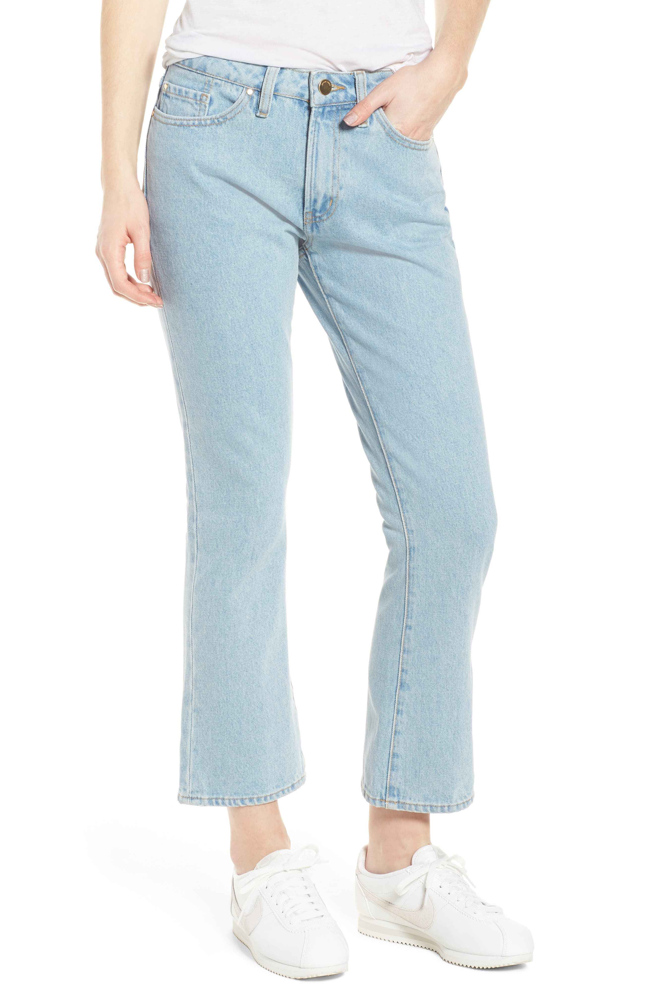 1970 The Flared Crop Jeans,                             Main thumbnail 2, color,