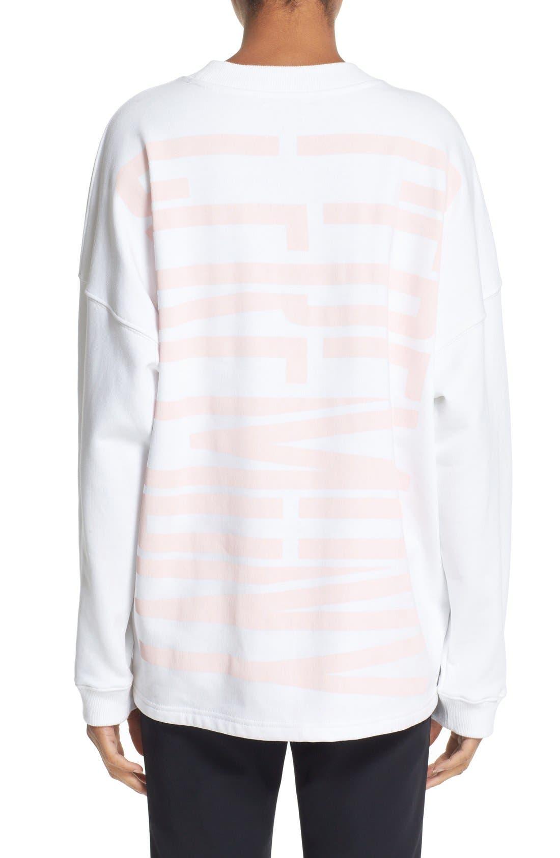 Graphic Cotton Sweatshirt,                             Alternate thumbnail 2, color,                             100