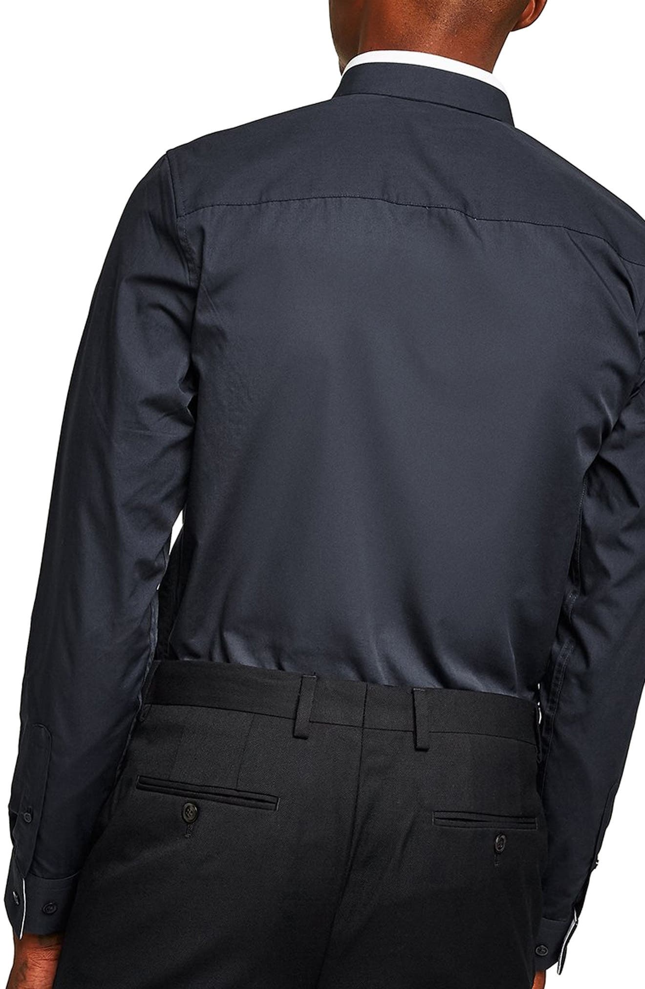Slim Fit Panel Collar Shirt,                             Alternate thumbnail 3, color,                             411