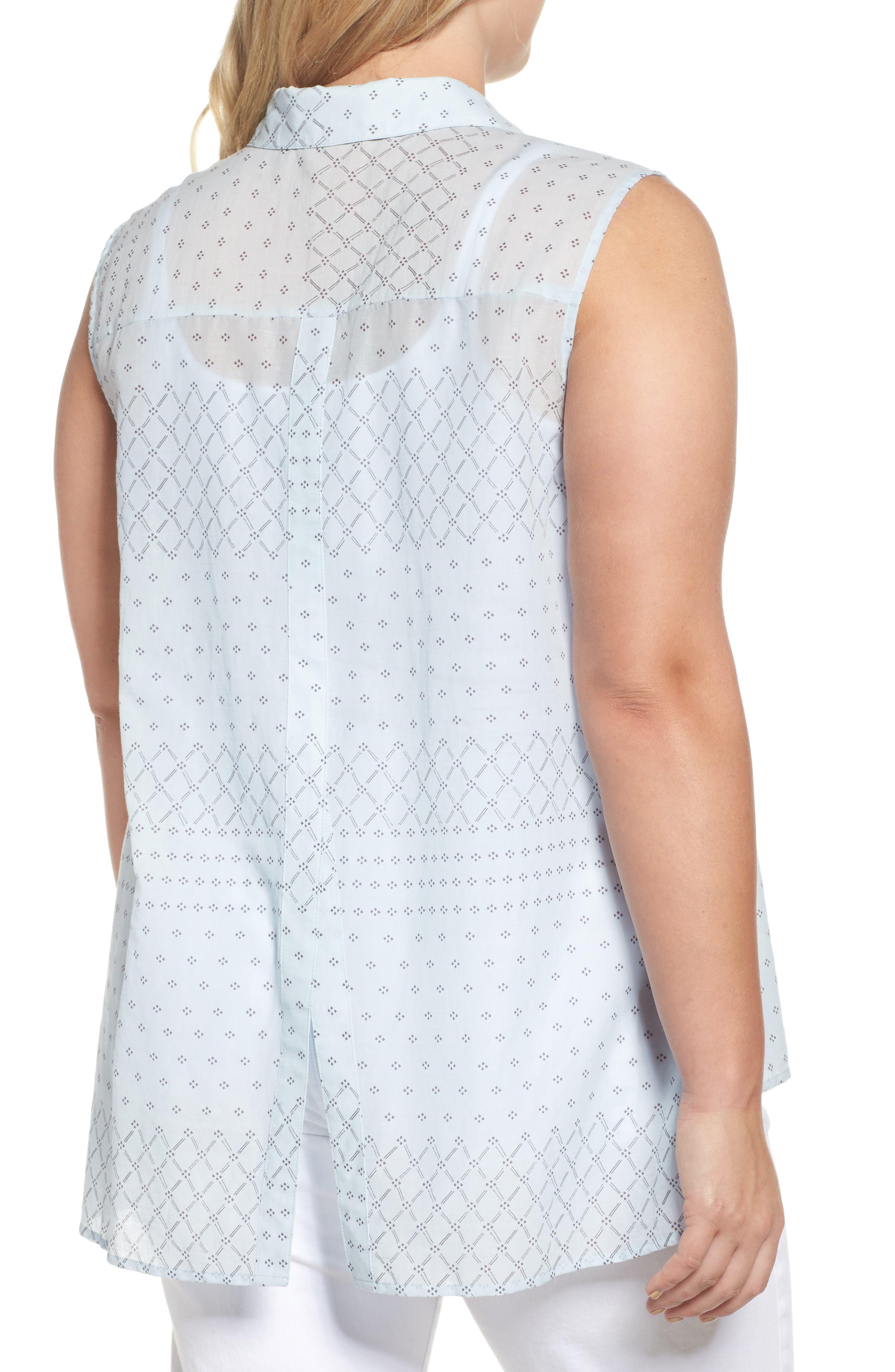 Delicate Dabs Slit Back Shirt,                             Alternate thumbnail 2, color,                             457
