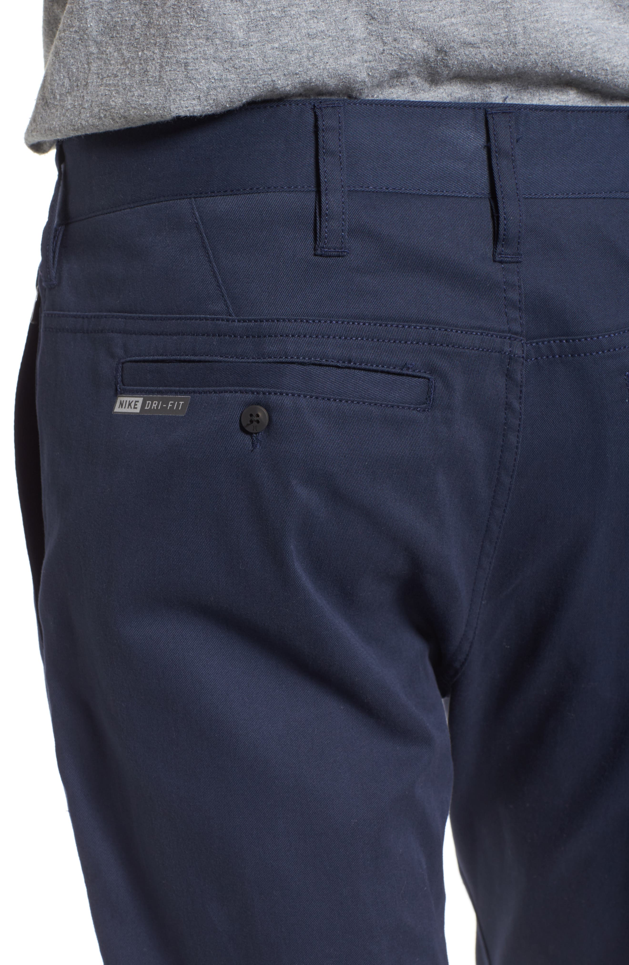 Dri-FIT Chinos,                             Alternate thumbnail 4, color,                             OBSIDIAN