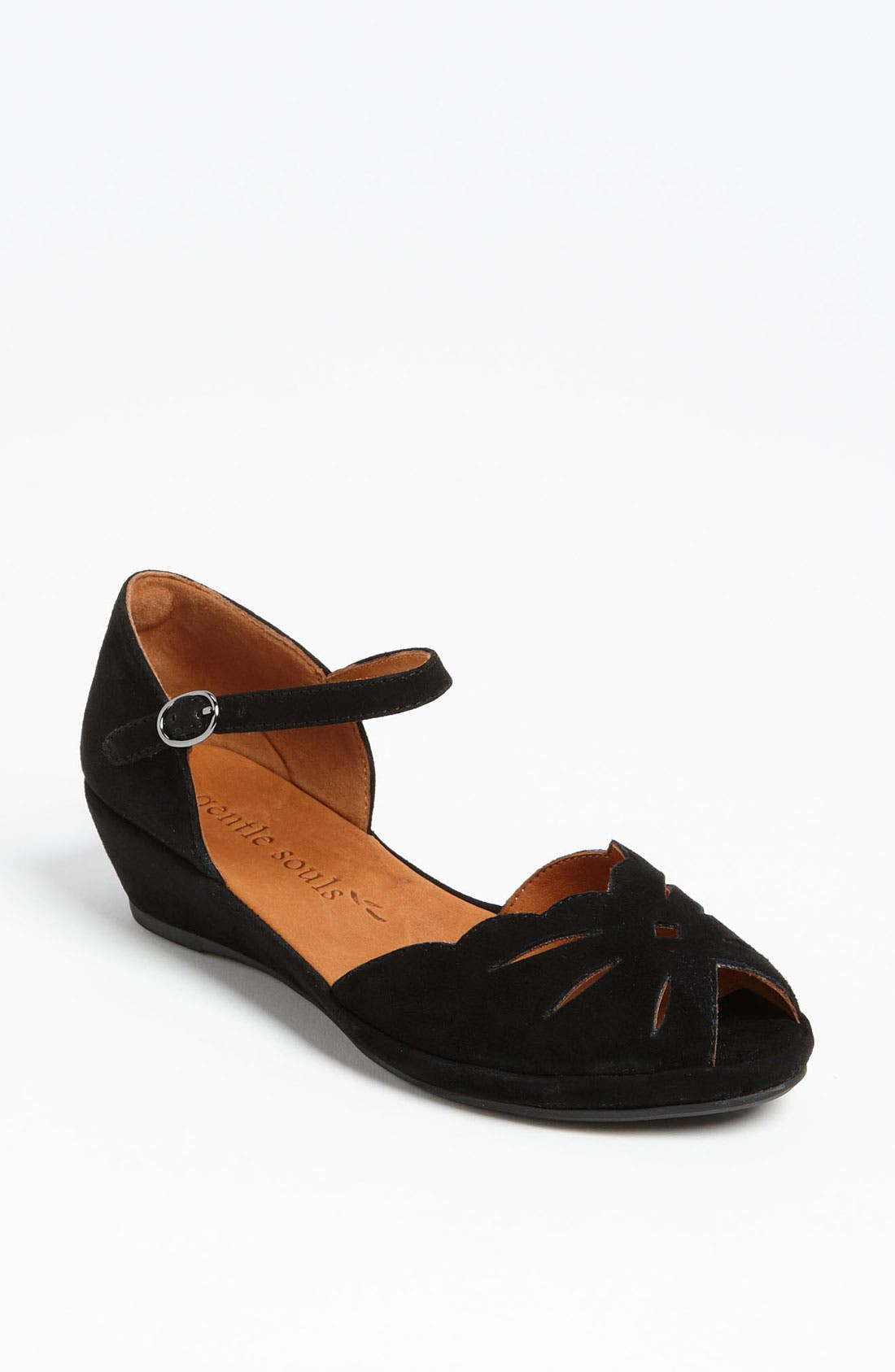 by Kenneth Cole 'Lily Moon' Sandal,                             Main thumbnail 1, color,                             BLACK