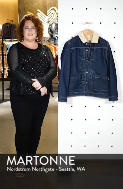 Levi's Made & Crafted<sup>™</sup> Faux Shearling Lined Denim Jacket, sales video thumbnail