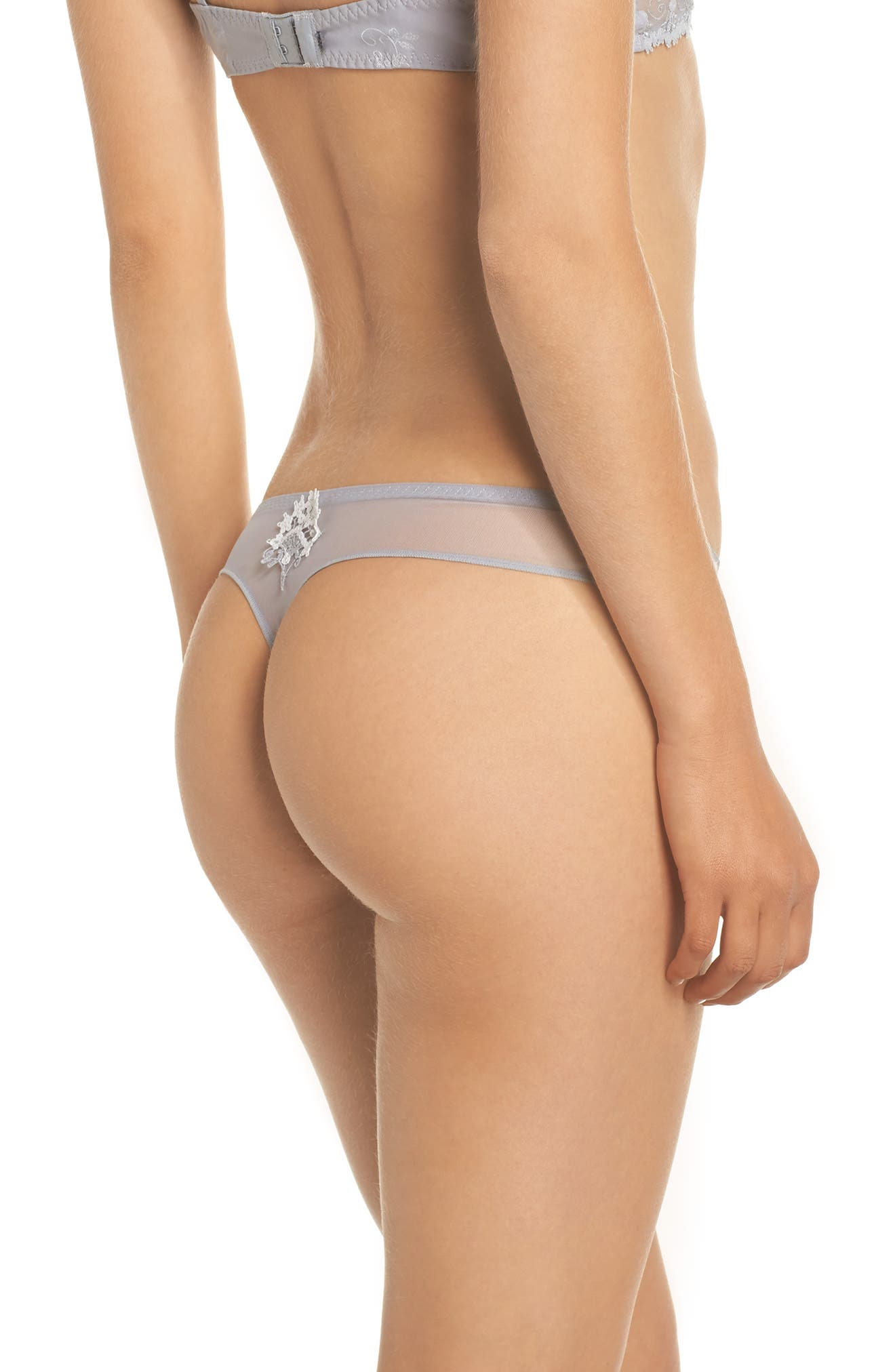 'Wish' Embroidered Tanga Thong,                             Alternate thumbnail 2, color,                             020