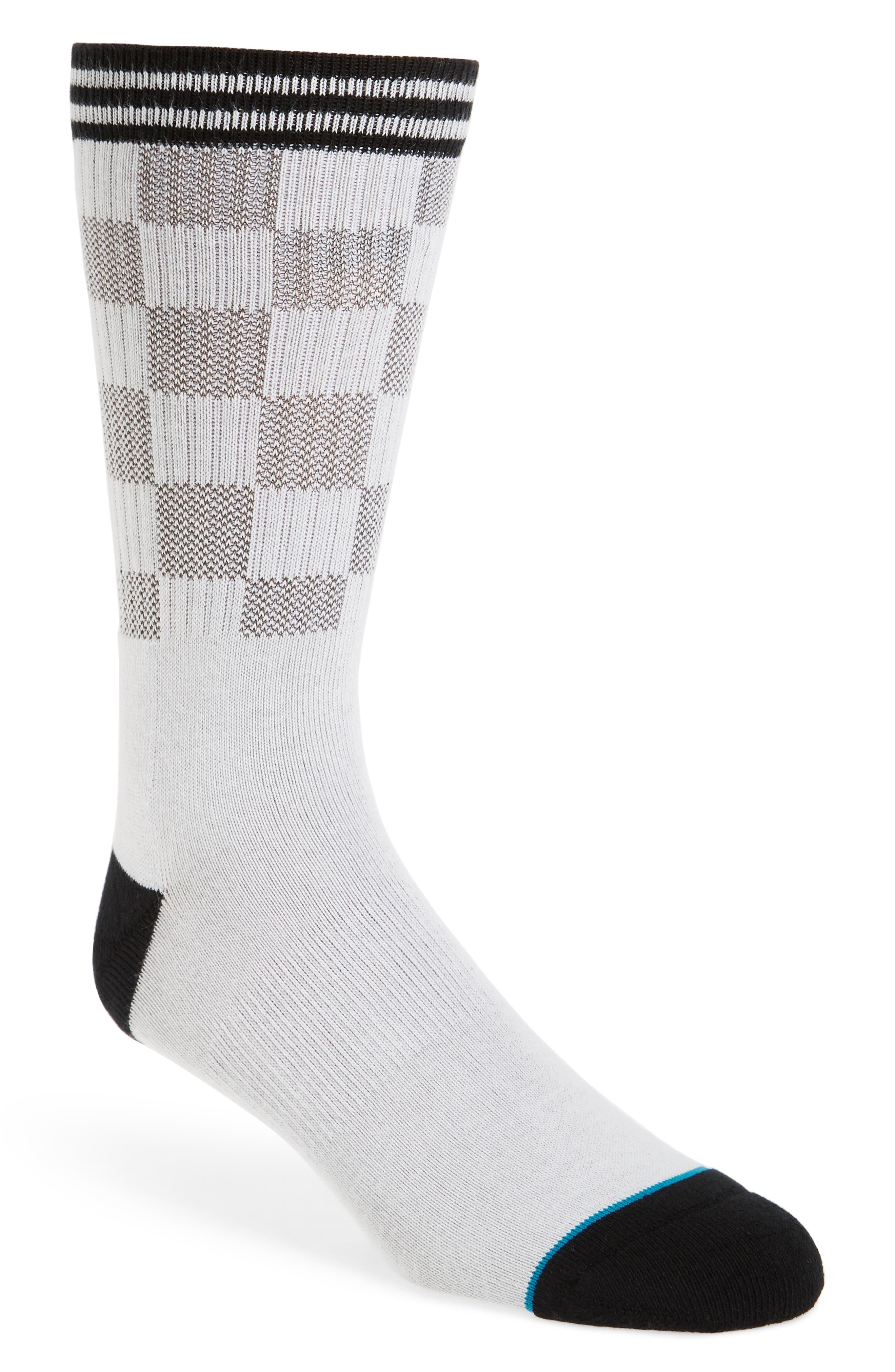 Caged Socks,                             Main thumbnail 1, color,                             WHITE
