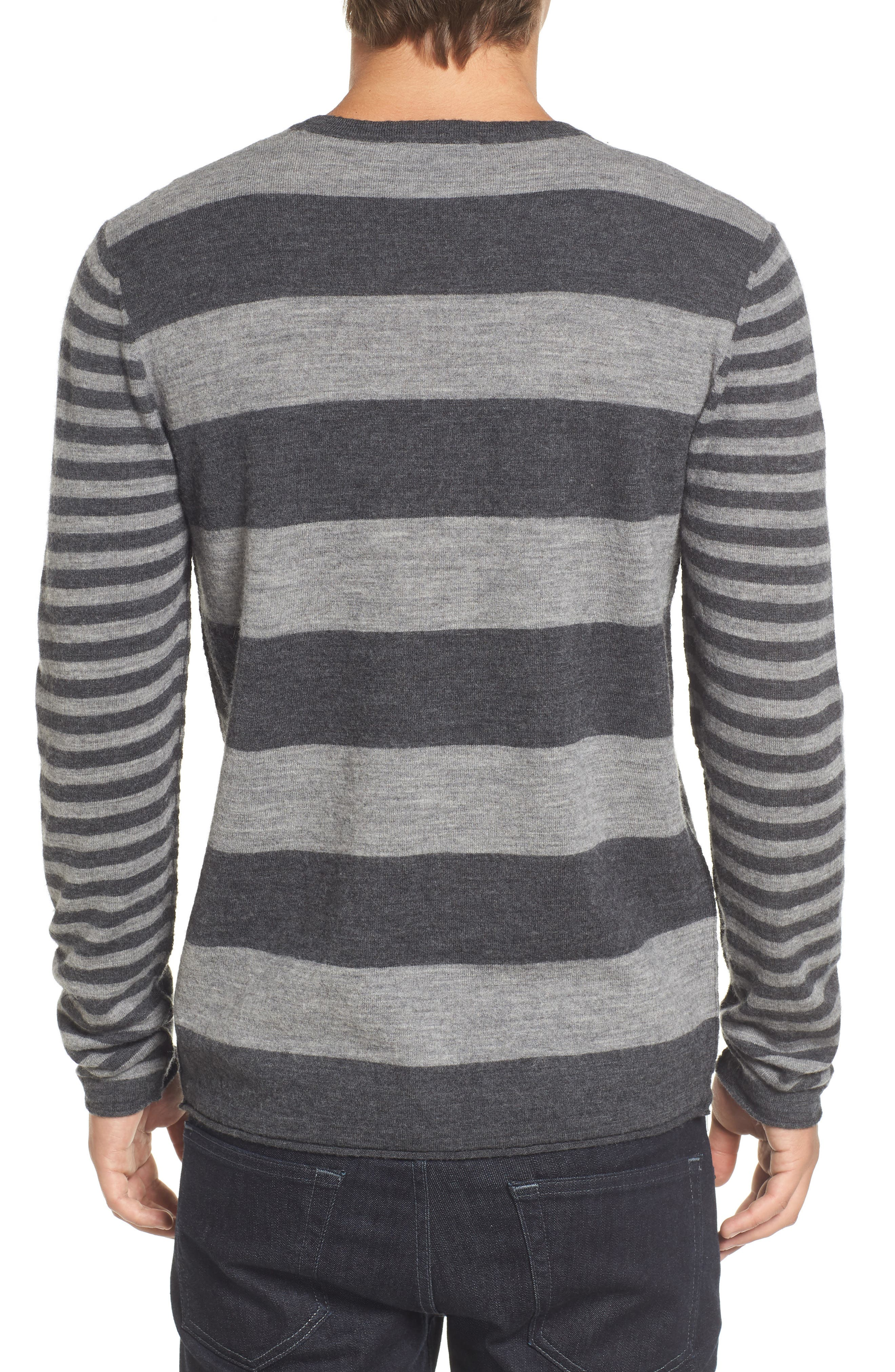 Double Stripe Wool Sweater,                             Alternate thumbnail 2, color,                             037