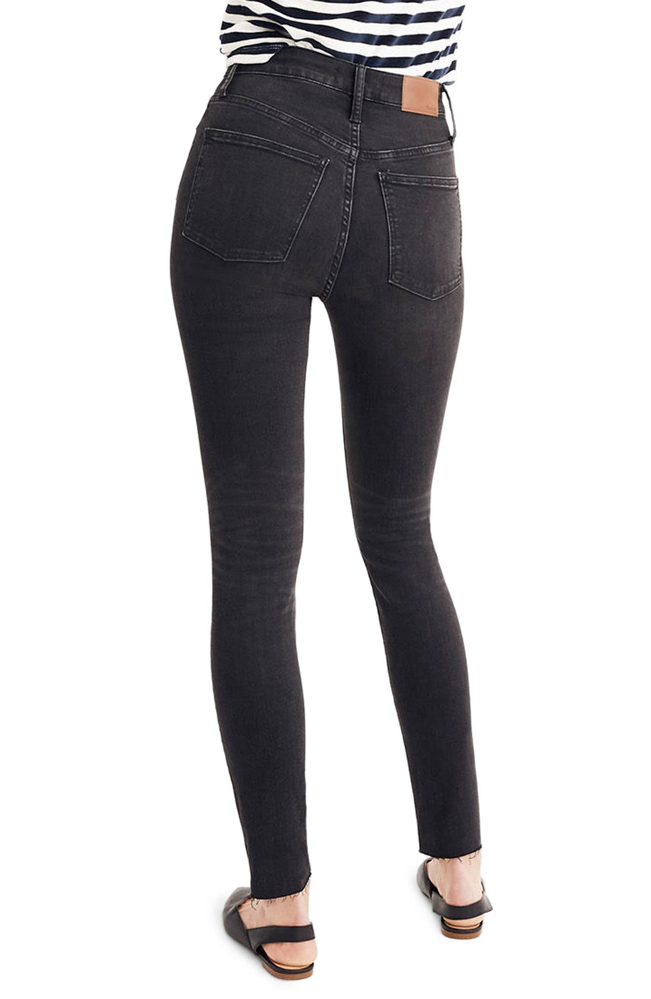 Curvy High Waist Skinny Jeans,                             Alternate thumbnail 3, color,                             BLACK SEA