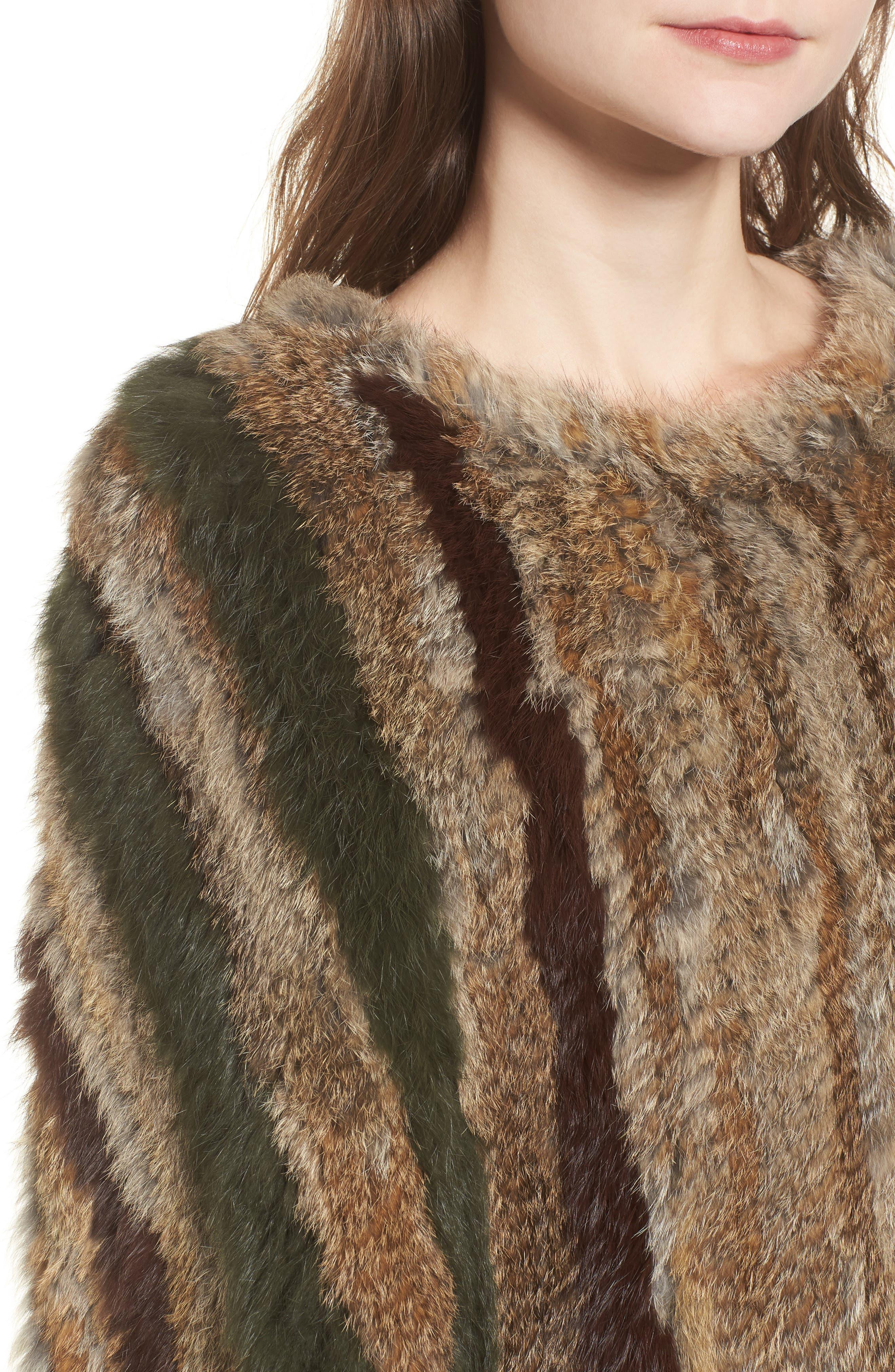 BNCI Nomad Genuine Rabbit Fur Pullover,                             Alternate thumbnail 4, color,                             208