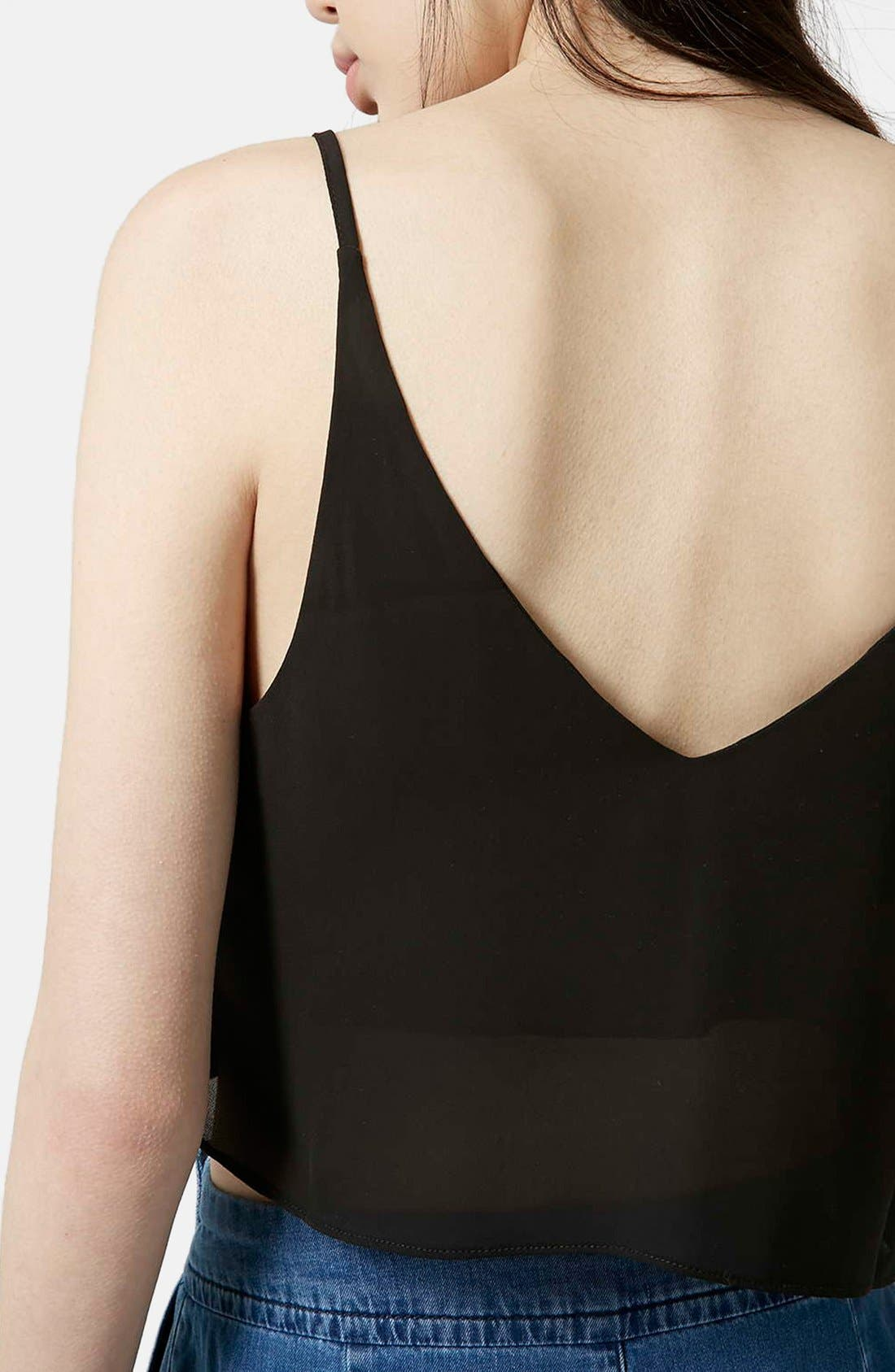 Crop Camisole,                             Alternate thumbnail 4, color,                             001