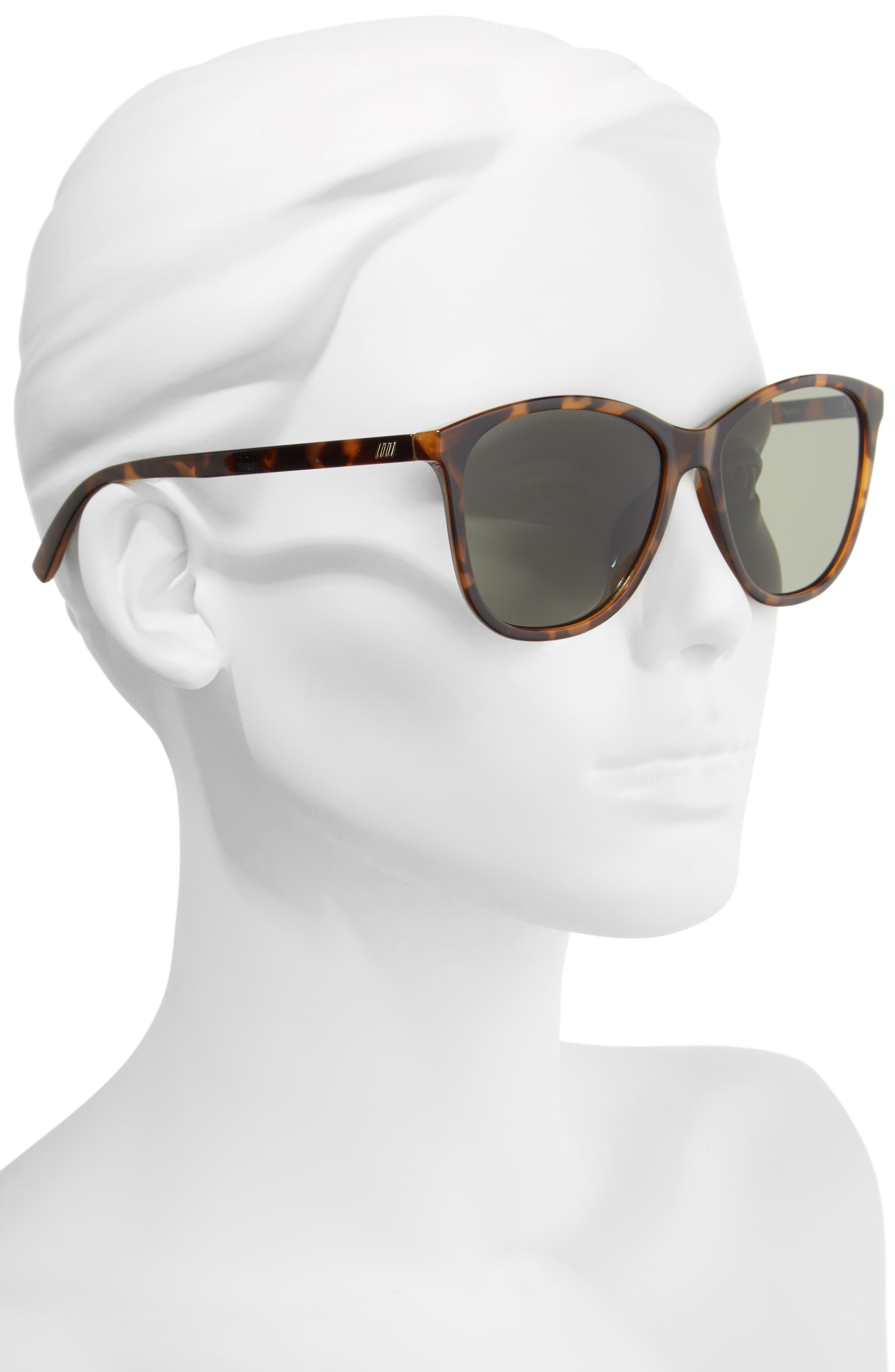 Entitlement 57mm Sunglasses,                             Alternate thumbnail 2, color,                             MILKY TORT