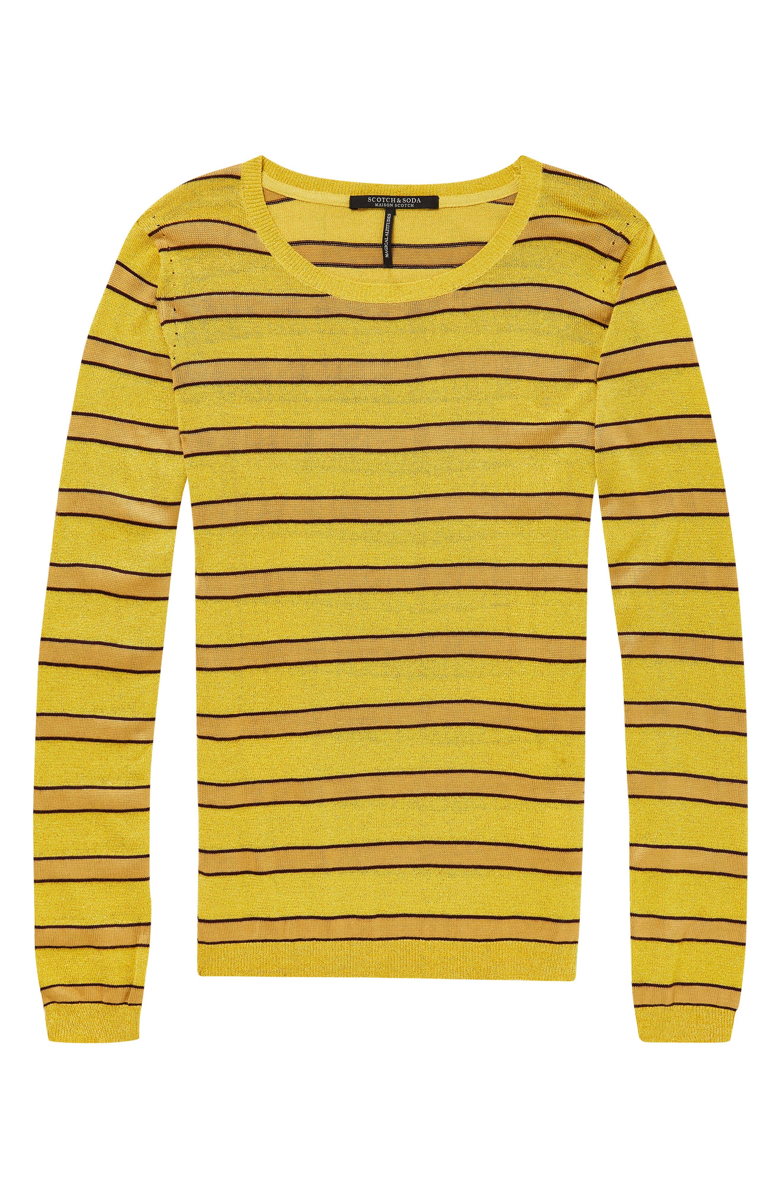 Stripe Crewneck Sweater,                             Alternate thumbnail 3, color,                             730