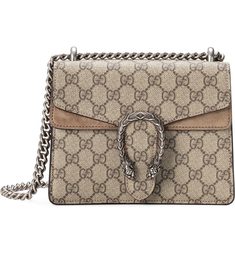 9a379acfe78c Gucci Mini Dionysus GG Supreme Shoulder Bag