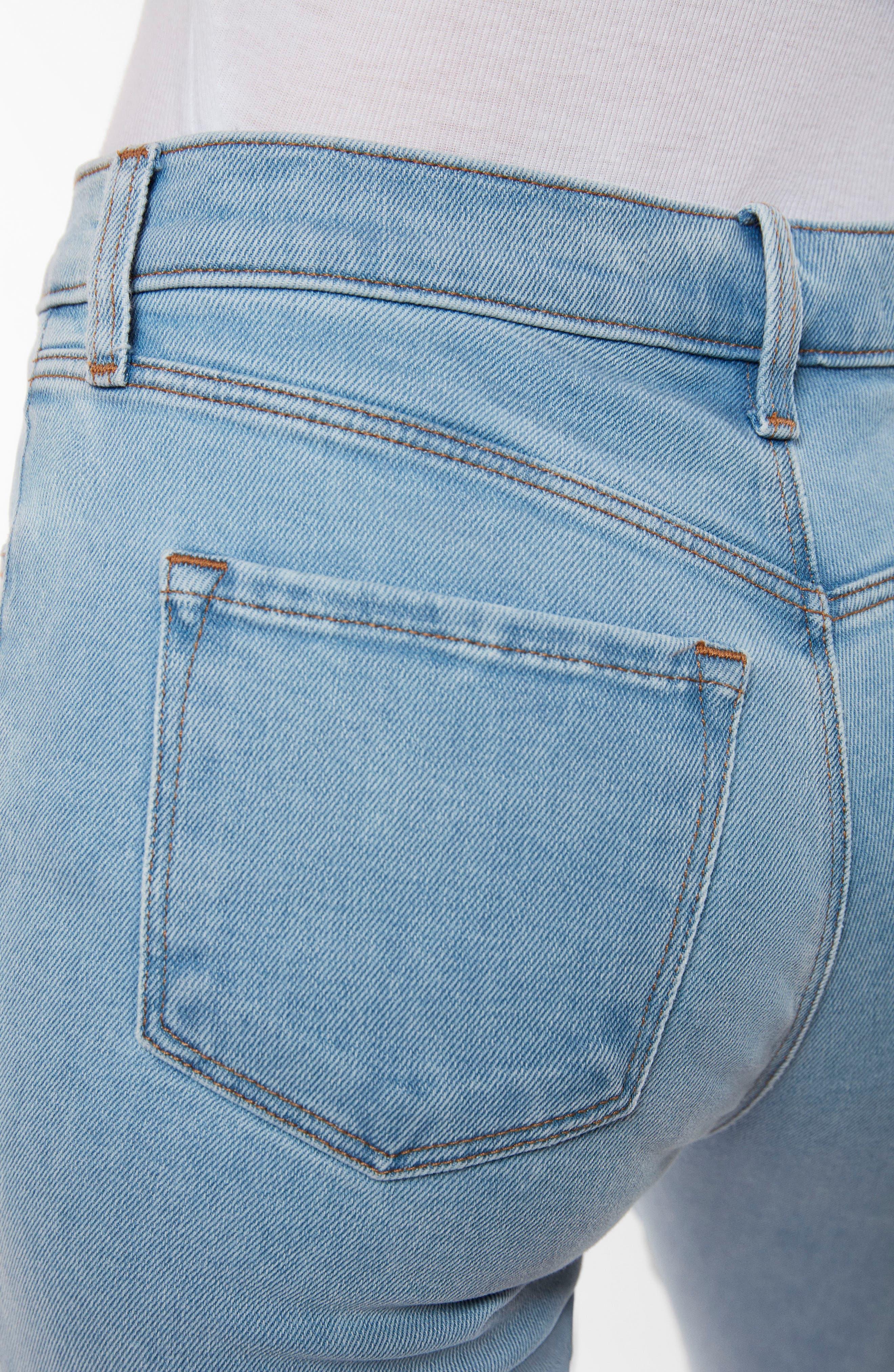 Ruby High Waist Crop Jeans,                             Alternate thumbnail 8, color,