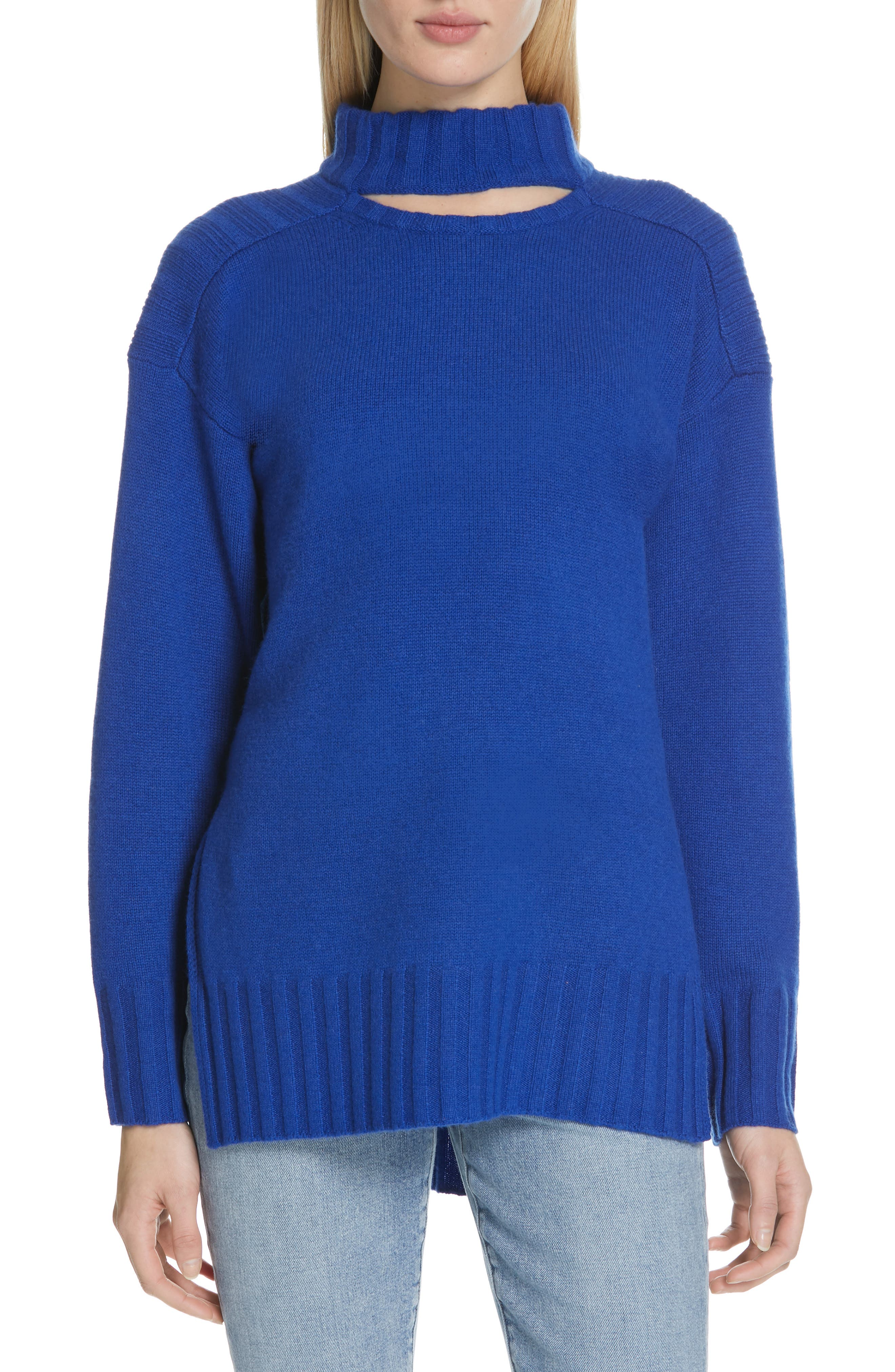 Stratford Wool & Cashmere Sweater,                             Main thumbnail 1, color,                             HYPER BLUE