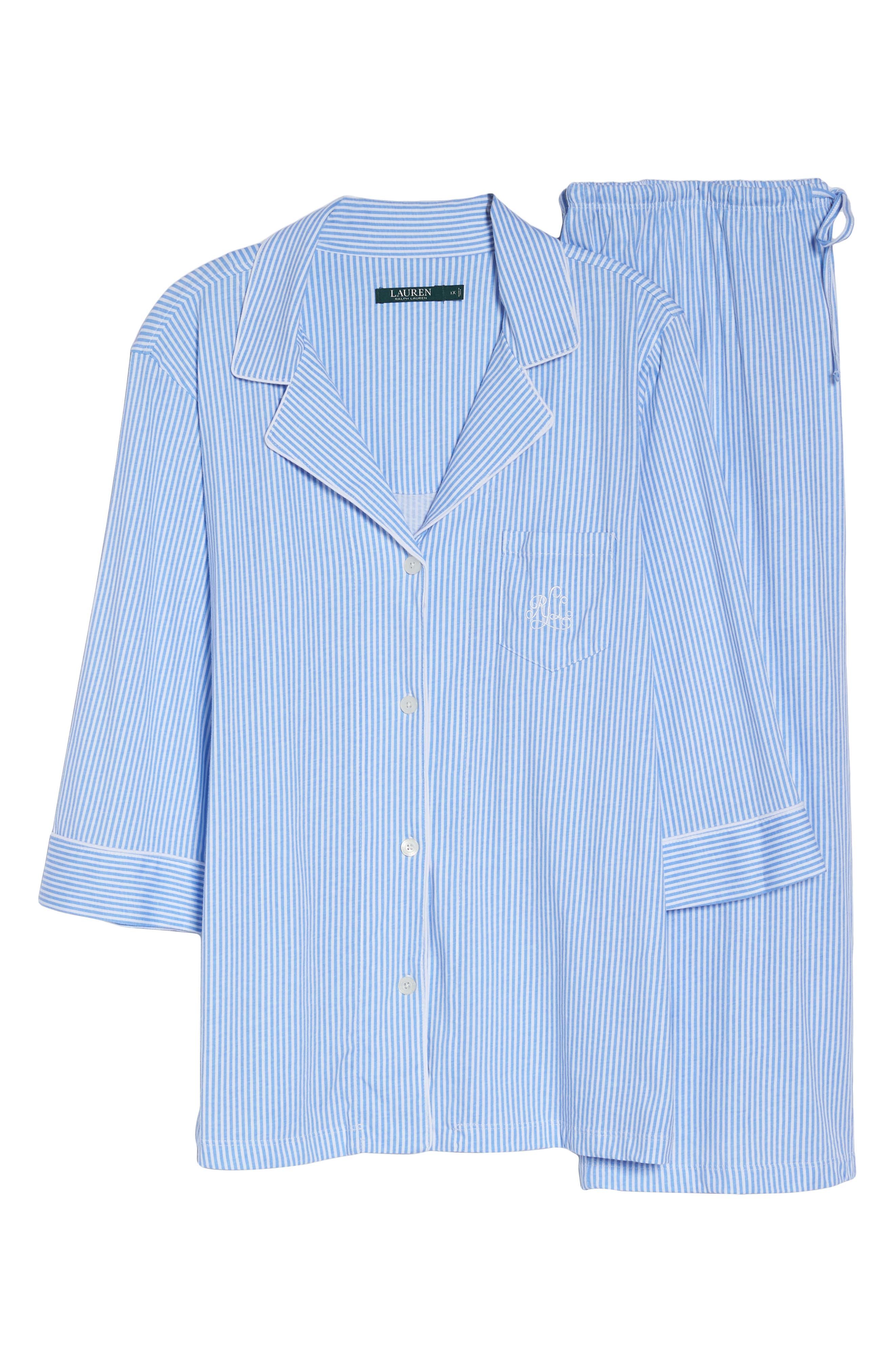 Knit Crop Pajamas,                             Alternate thumbnail 31, color,