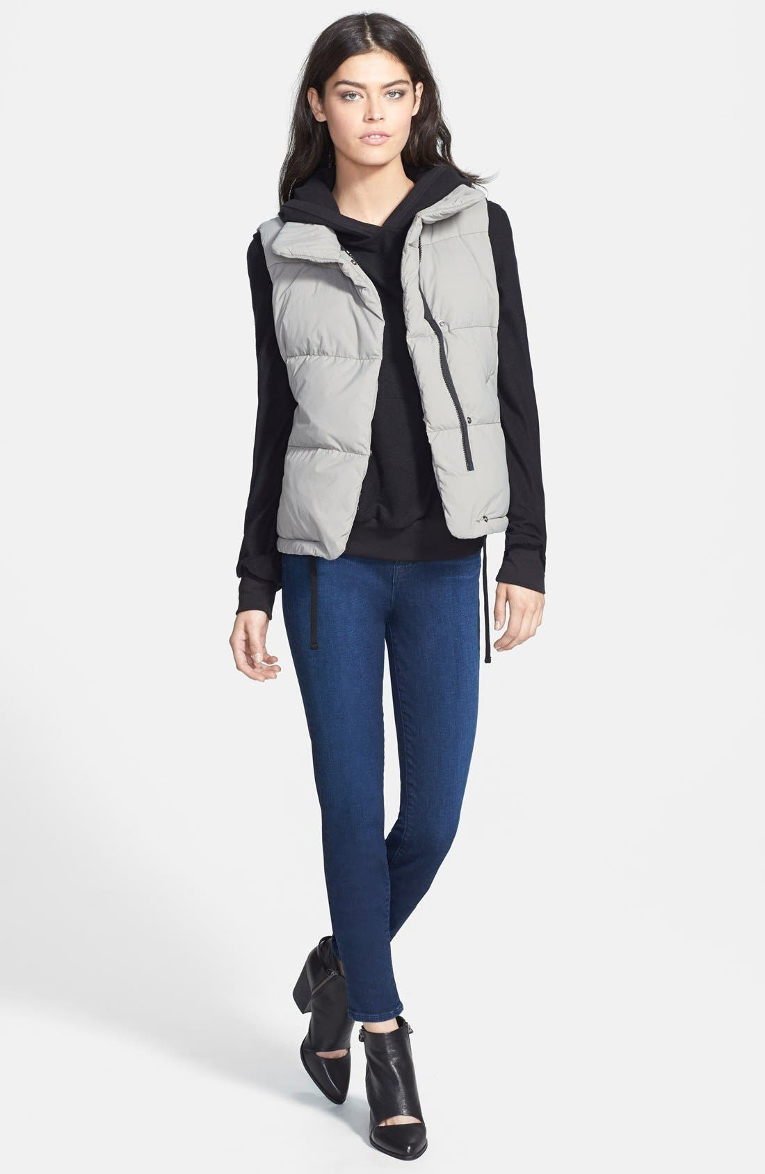 J BRAND,                             'Maria' High Rise Skinny Jeans,                             Alternate thumbnail 6, color,                             400