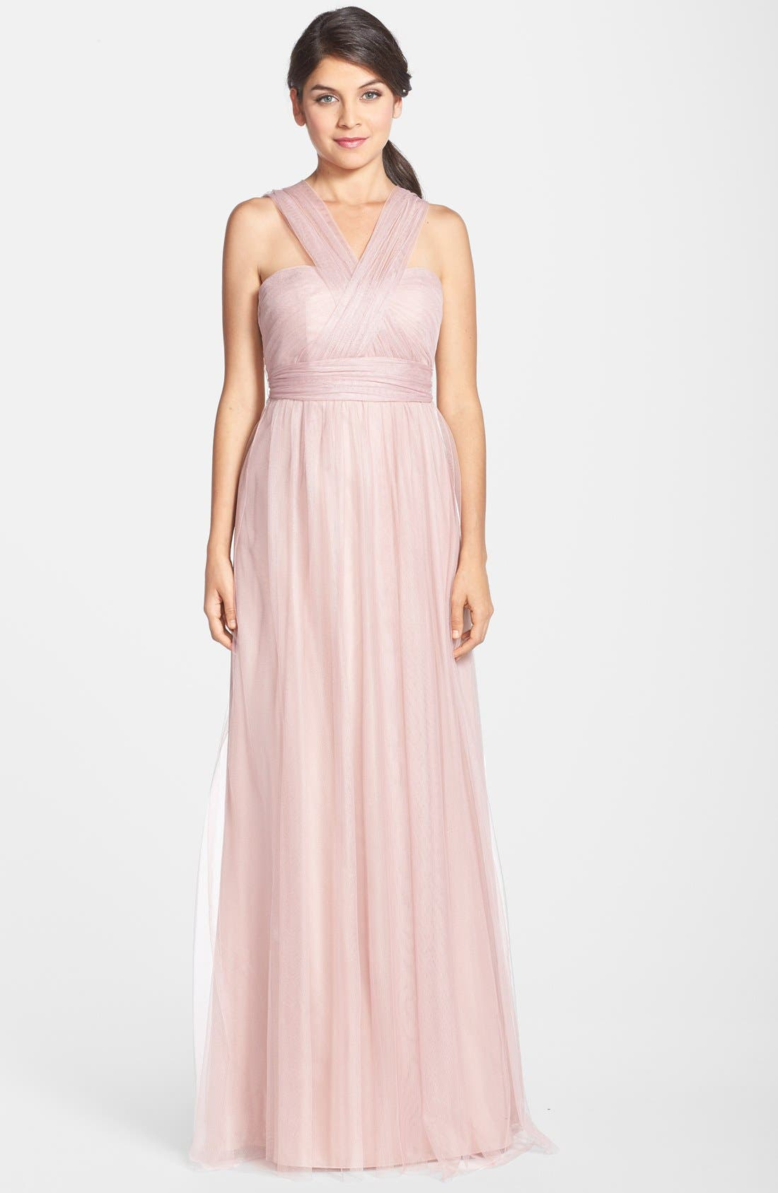 Annabelle Convertible Tulle Column Dress,                             Alternate thumbnail 77, color,