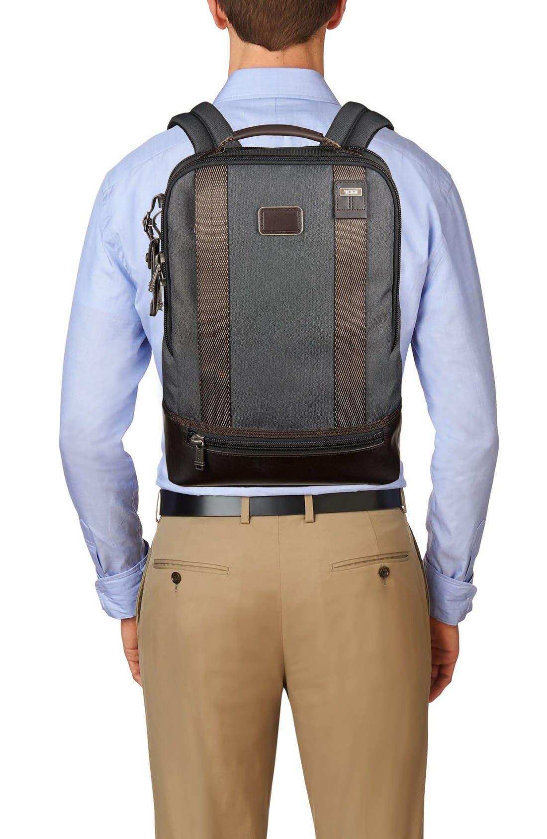 TUMI,                             Alpha Bravo Dover Backpack,                             Alternate thumbnail 5, color,                             010