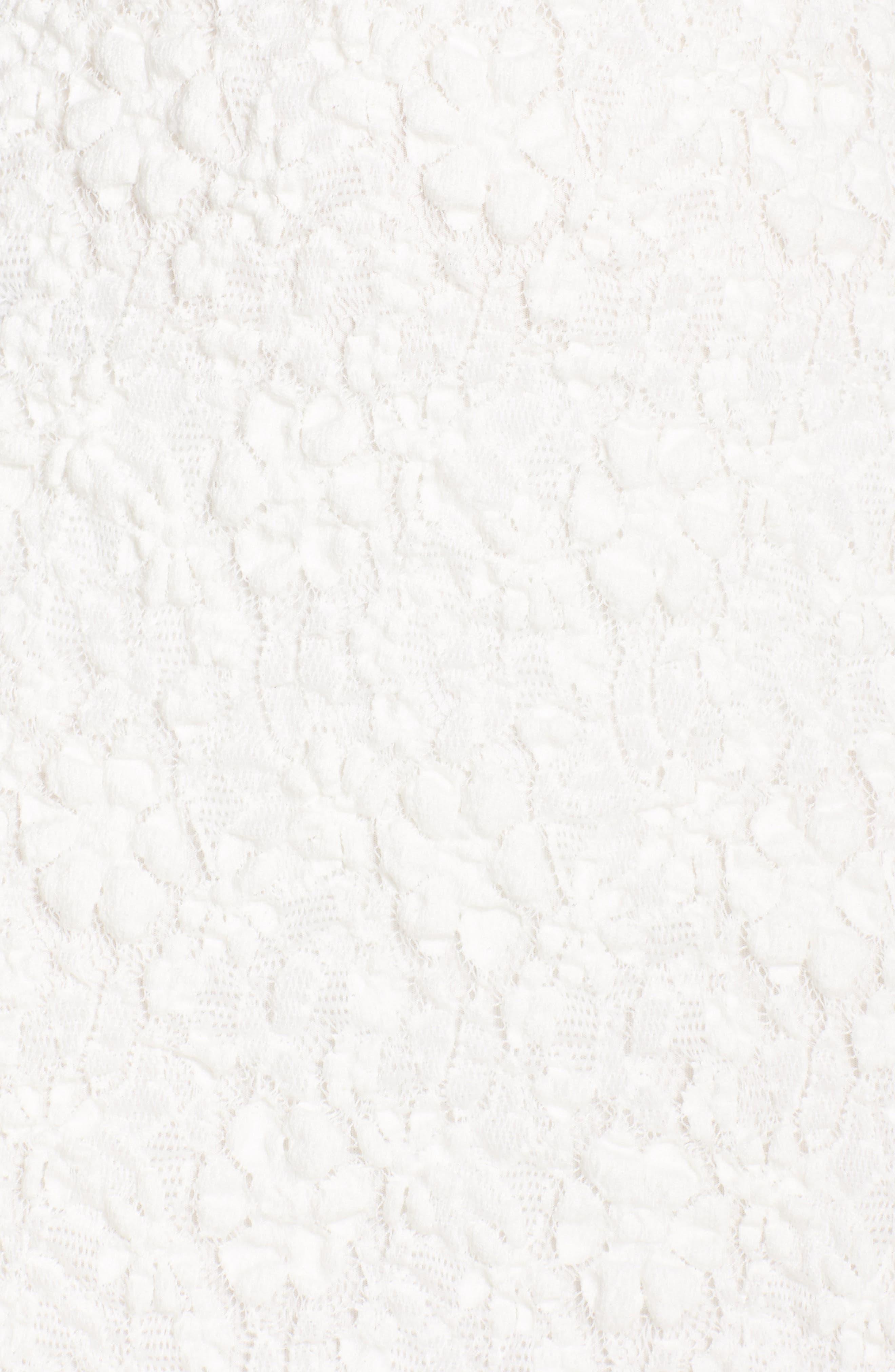 Lace Midi Dress,                             Alternate thumbnail 4, color,                             101