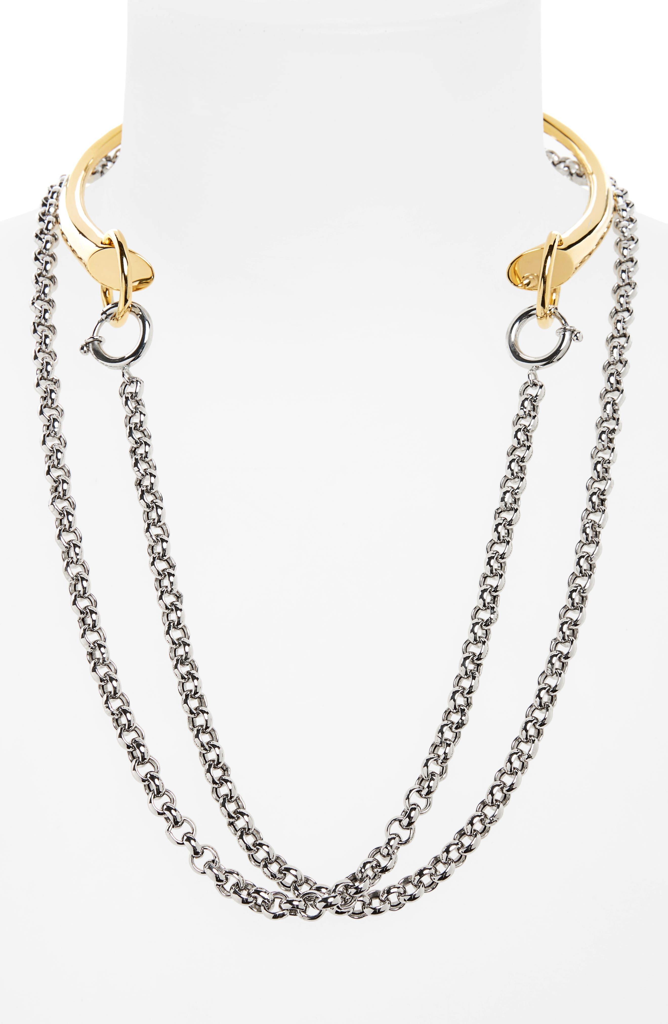 Briska Necklace,                             Alternate thumbnail 2, color,                             SILVER/YELLOW/VERMEIL