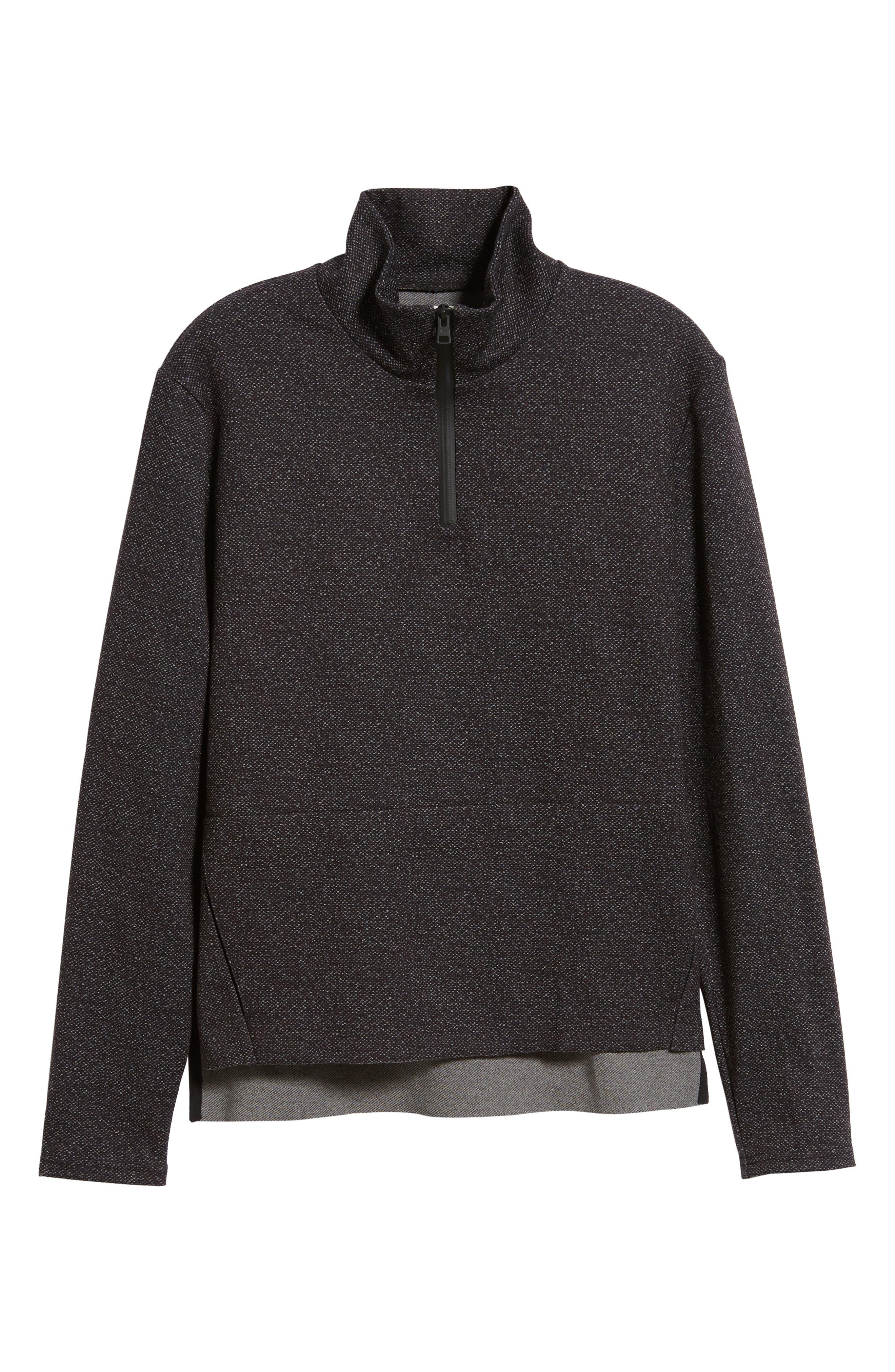Oscar Quarter Zip Slim Fit Sweater,                             Alternate thumbnail 6, color,                             CHARCOAL