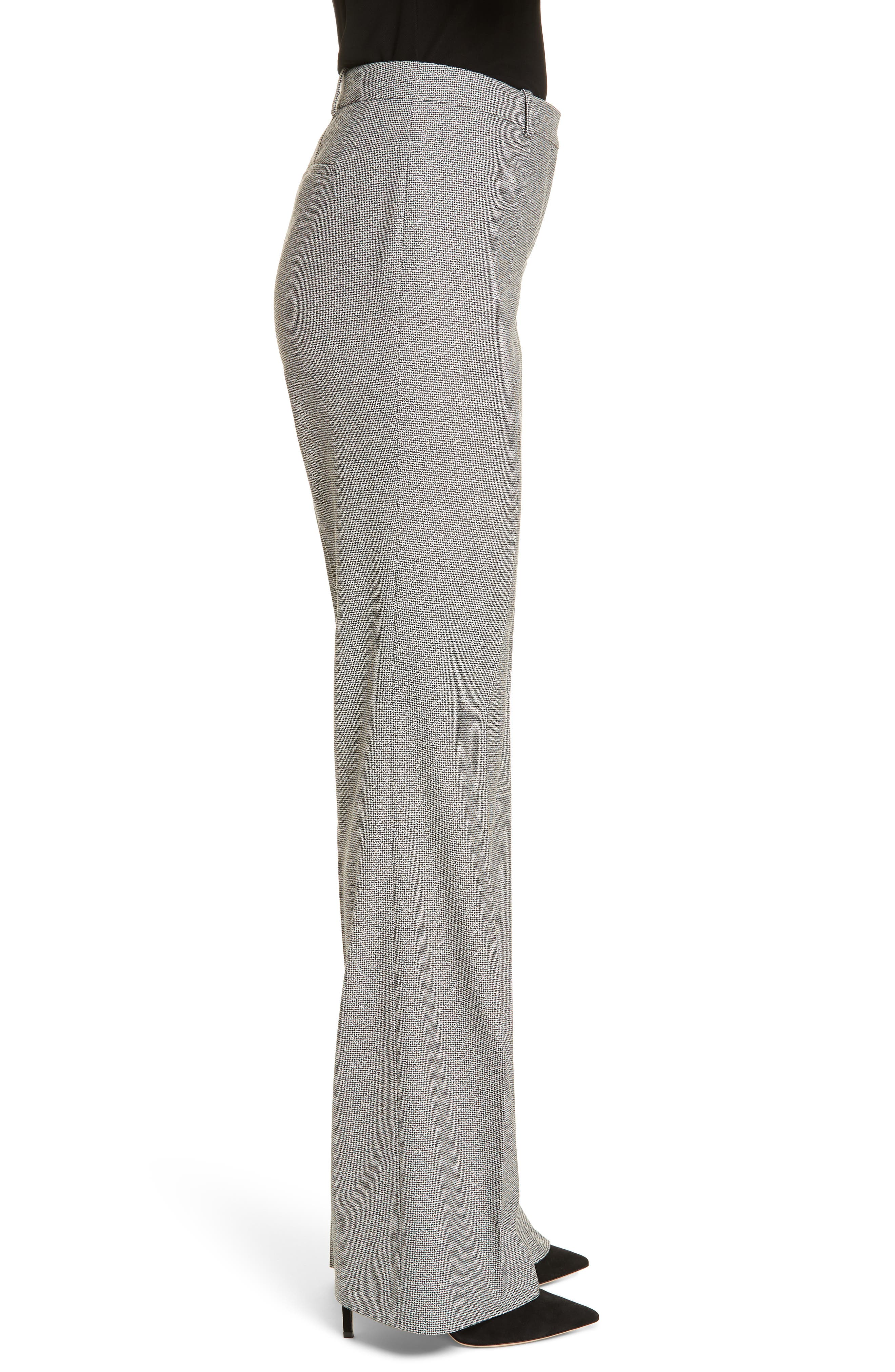 Tulea Blurred Optic Wool Suiting Trousers,                             Alternate thumbnail 3, color,                             BLACK FANTASY