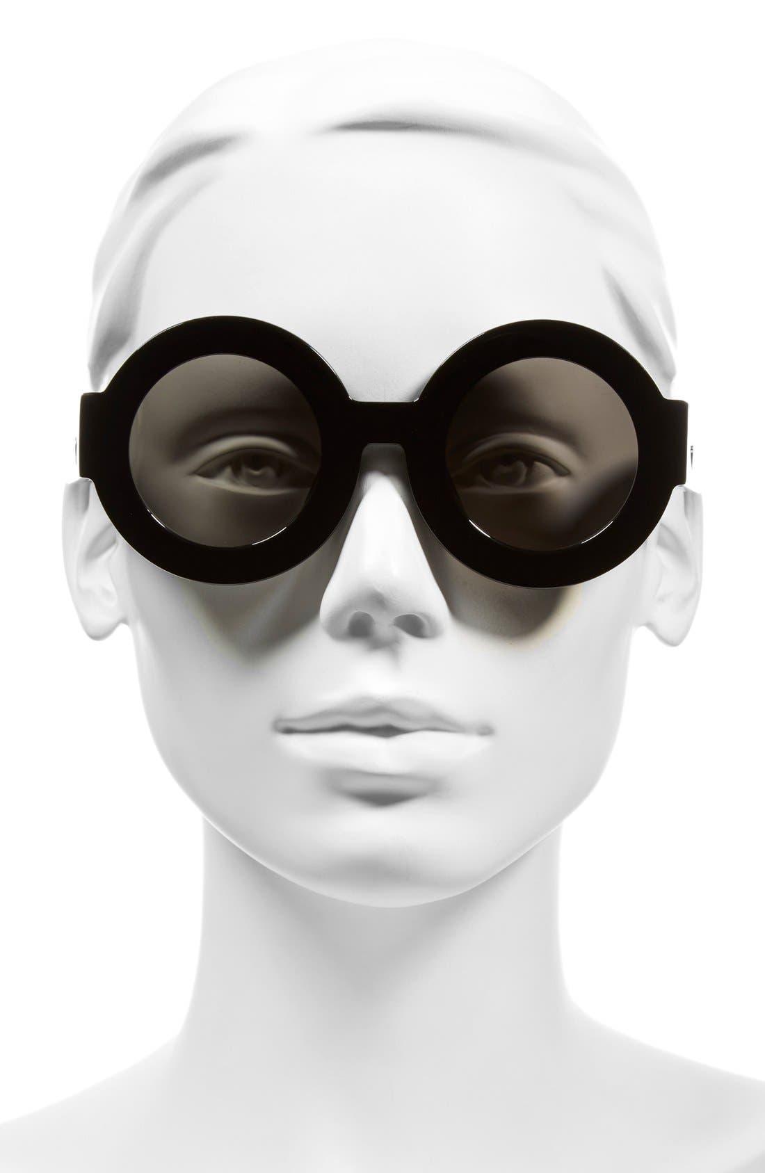 'Scapula' 45mm Round Sunglasses,                             Alternate thumbnail 2, color,                             001