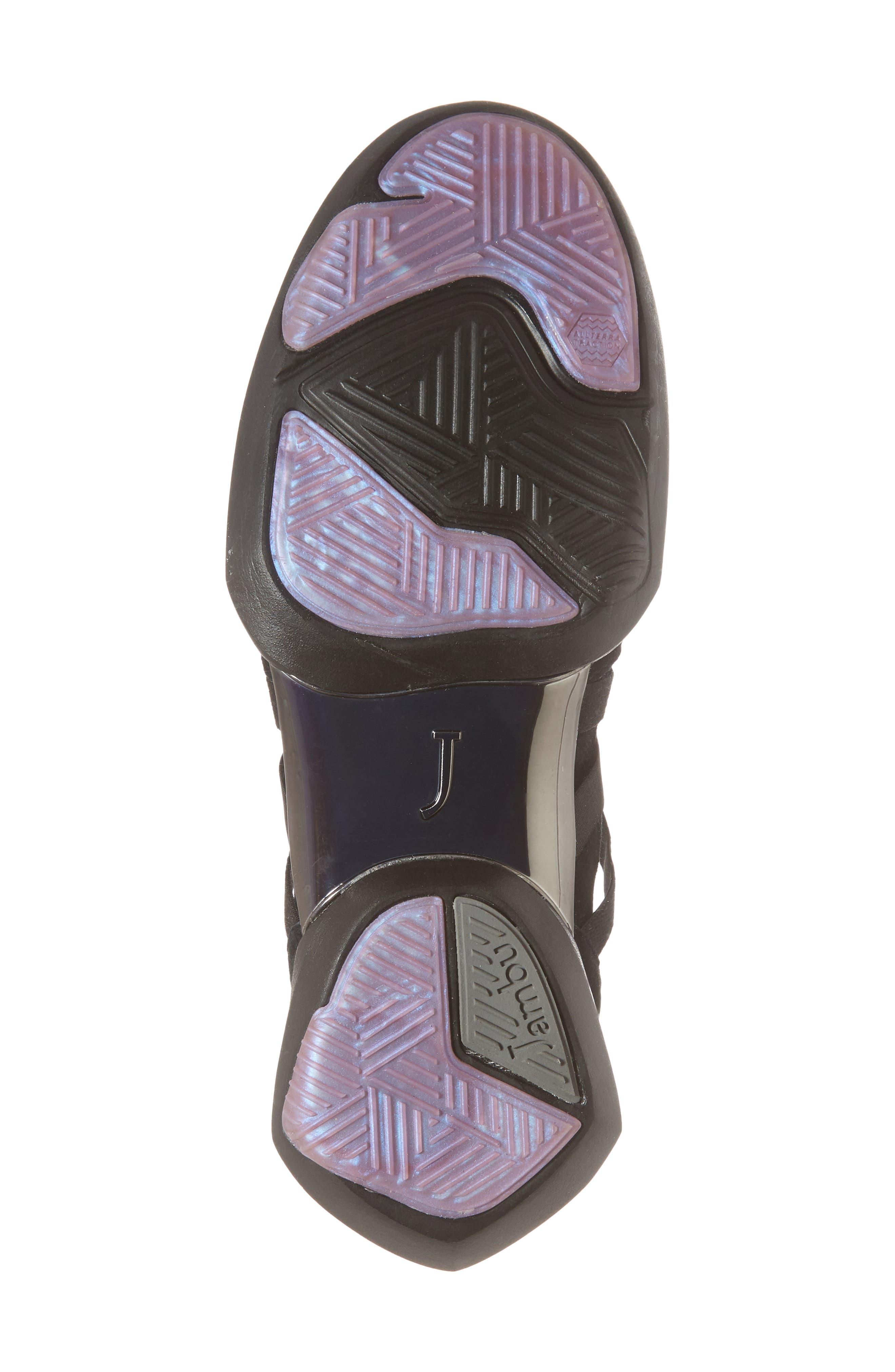 Azalea Sneaker,                             Alternate thumbnail 6, color,                             BLACK SUEDE