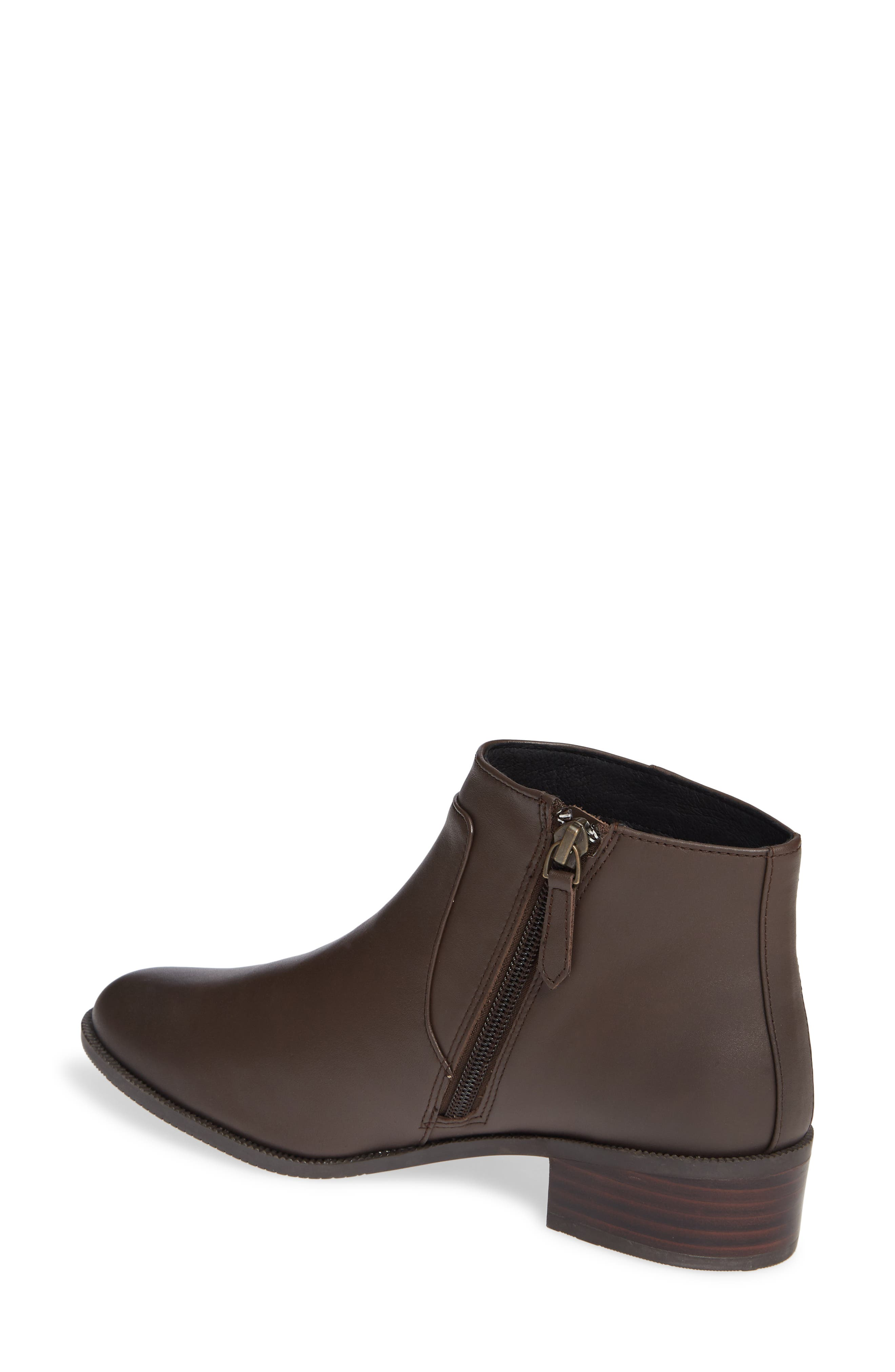 Benette Water Resistant Bootie,                             Alternate thumbnail 2, color,                             CHOCOLATE LEATHER