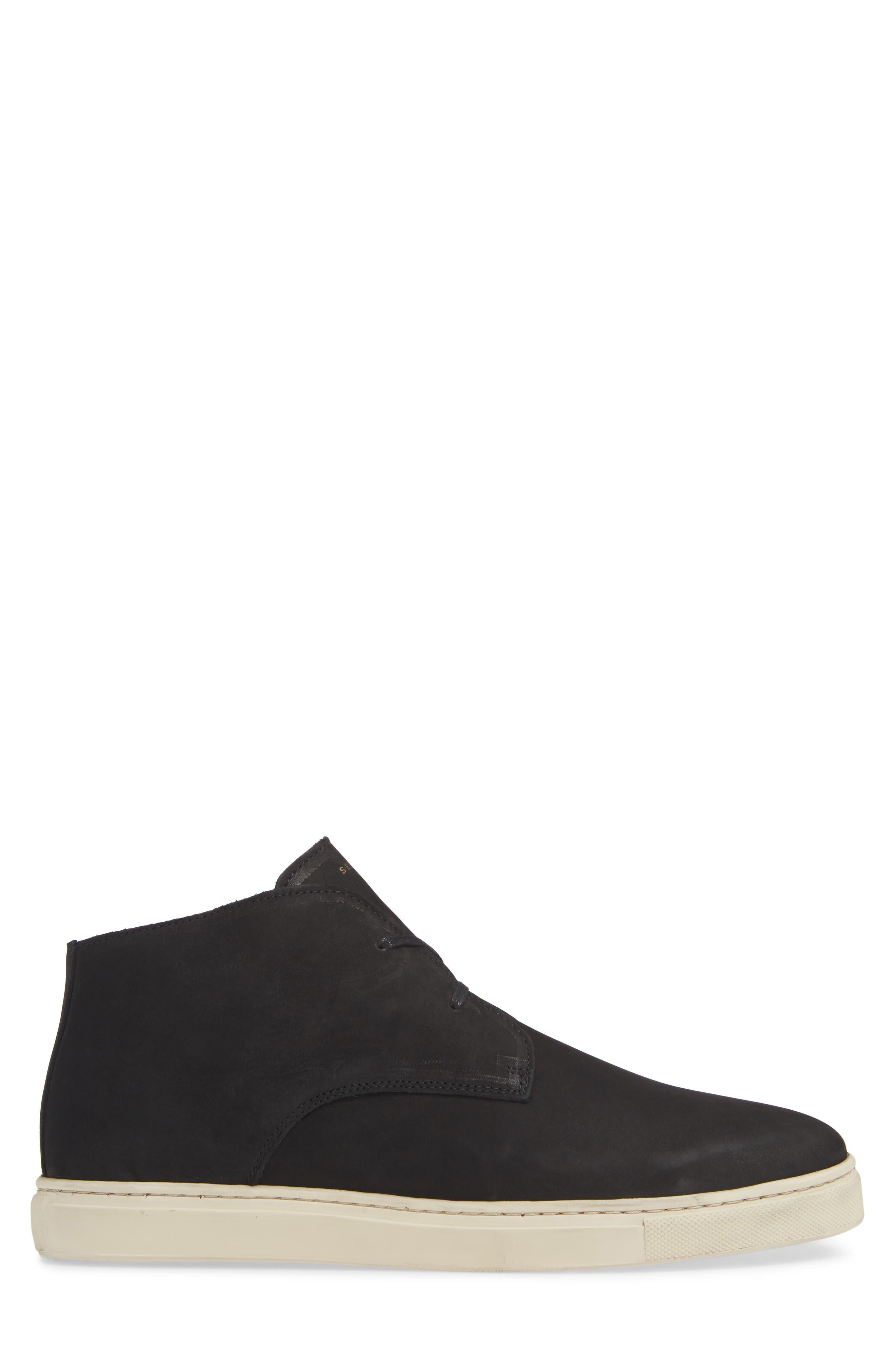 Dempsey Chukka Sneaker,                             Alternate thumbnail 3, color,                             BLACK